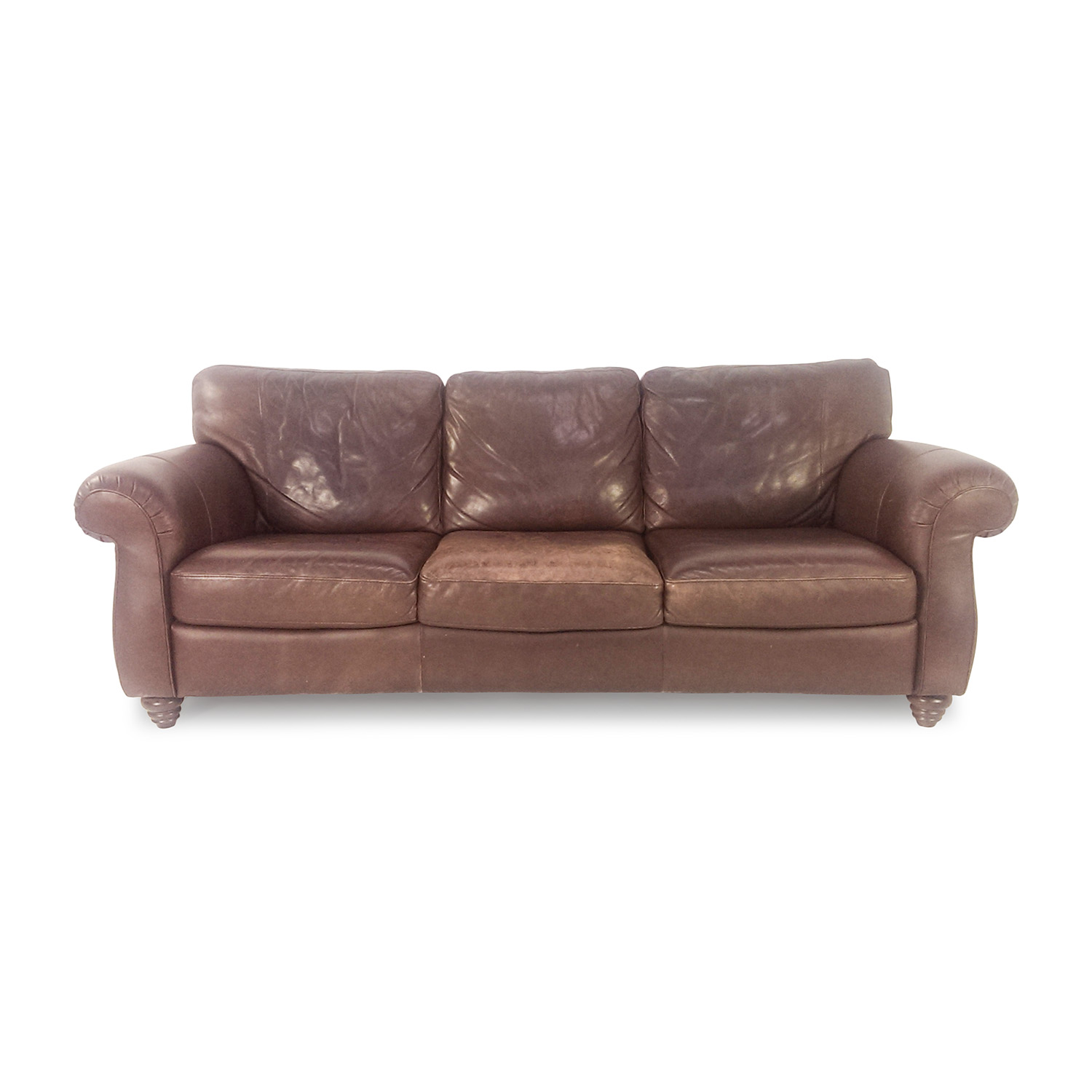 Brown Real Leather Couch 85 Off Natuzzi Natuzzi Brown Leather Couch Sofas