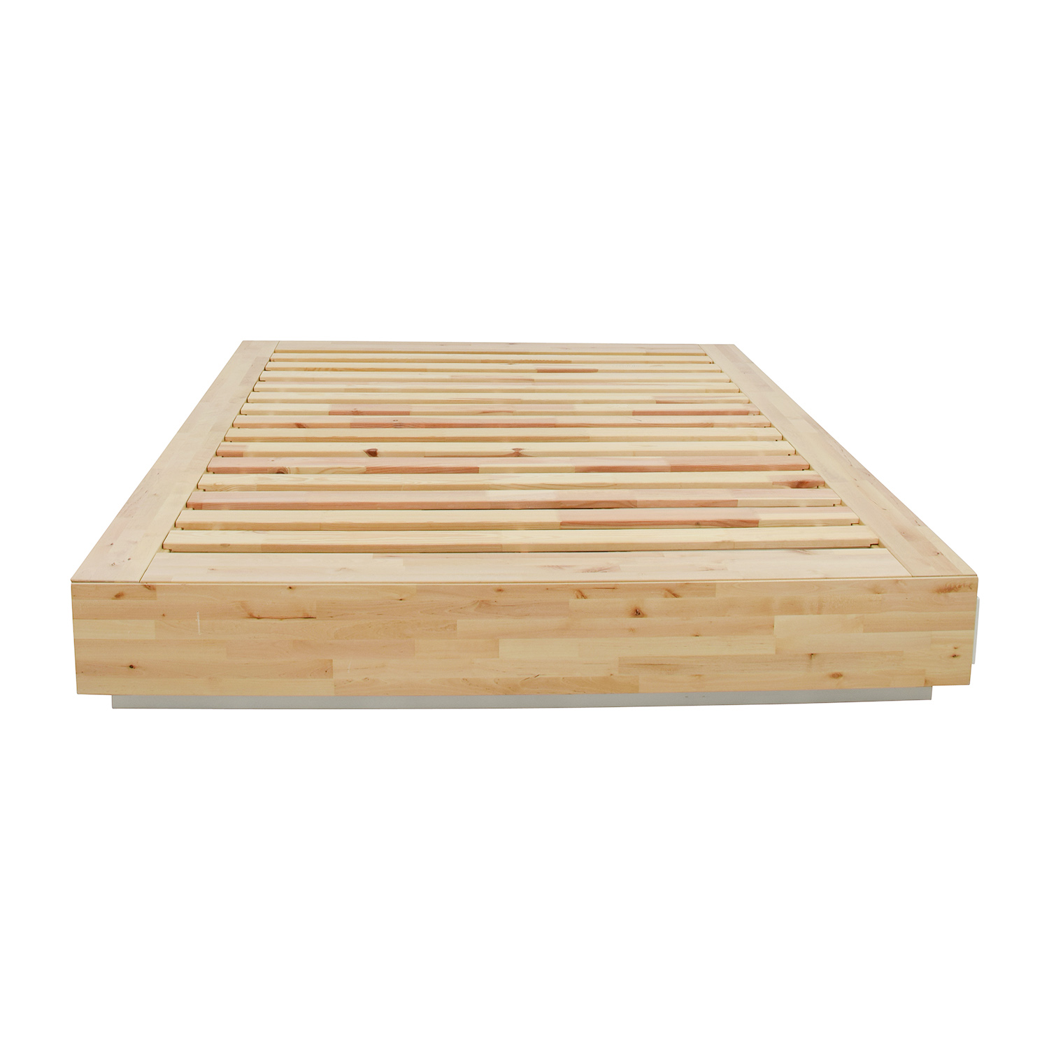 Queen Bed Sale 35 Off Ikea Birch Wood Queen Bed Frame With Storage Beds