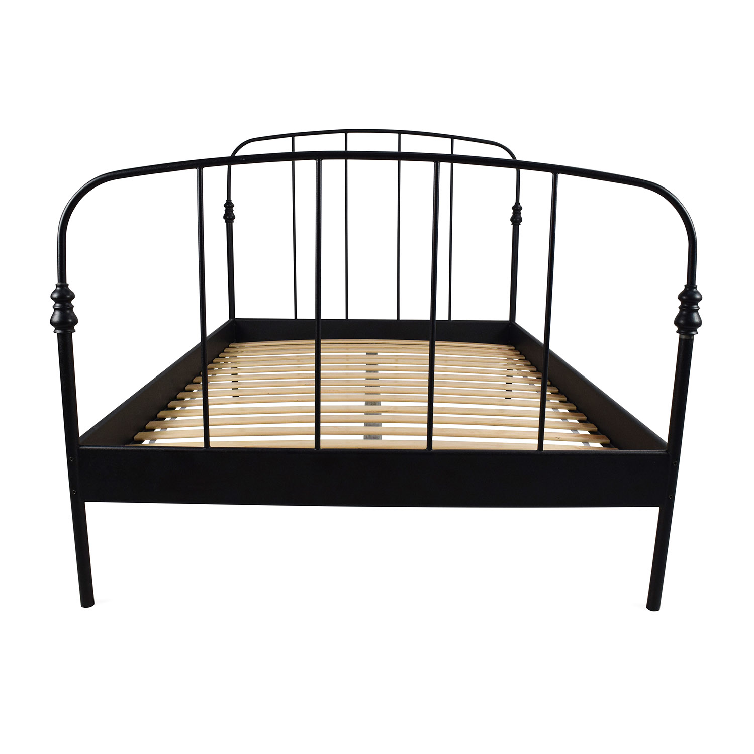 Ikea Iron Bed 62 Off Ikea Ikea Svelvik Full Size Black Bed Frame Beds