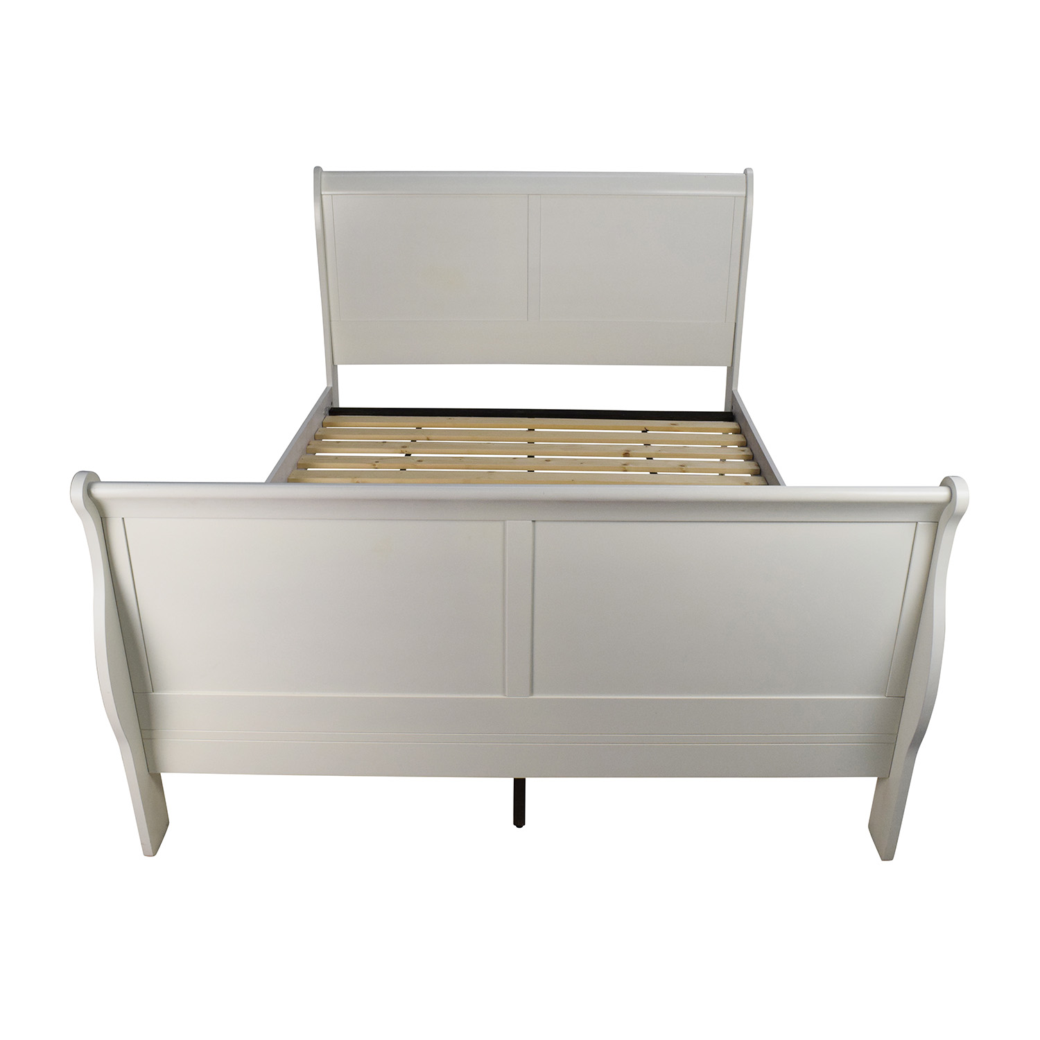 Wooden Beds 84 Off White Wooden Queen Sleigh Bed Beds