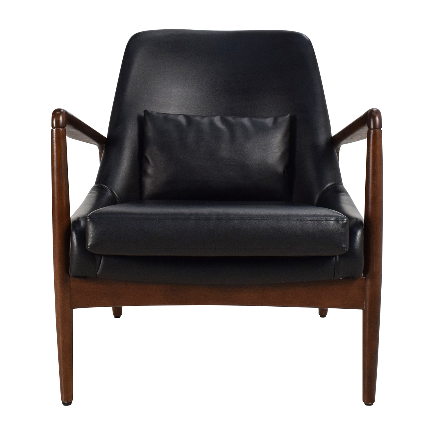 Leather Lounge 62 Off Black Leather Lounge Chair Chairs