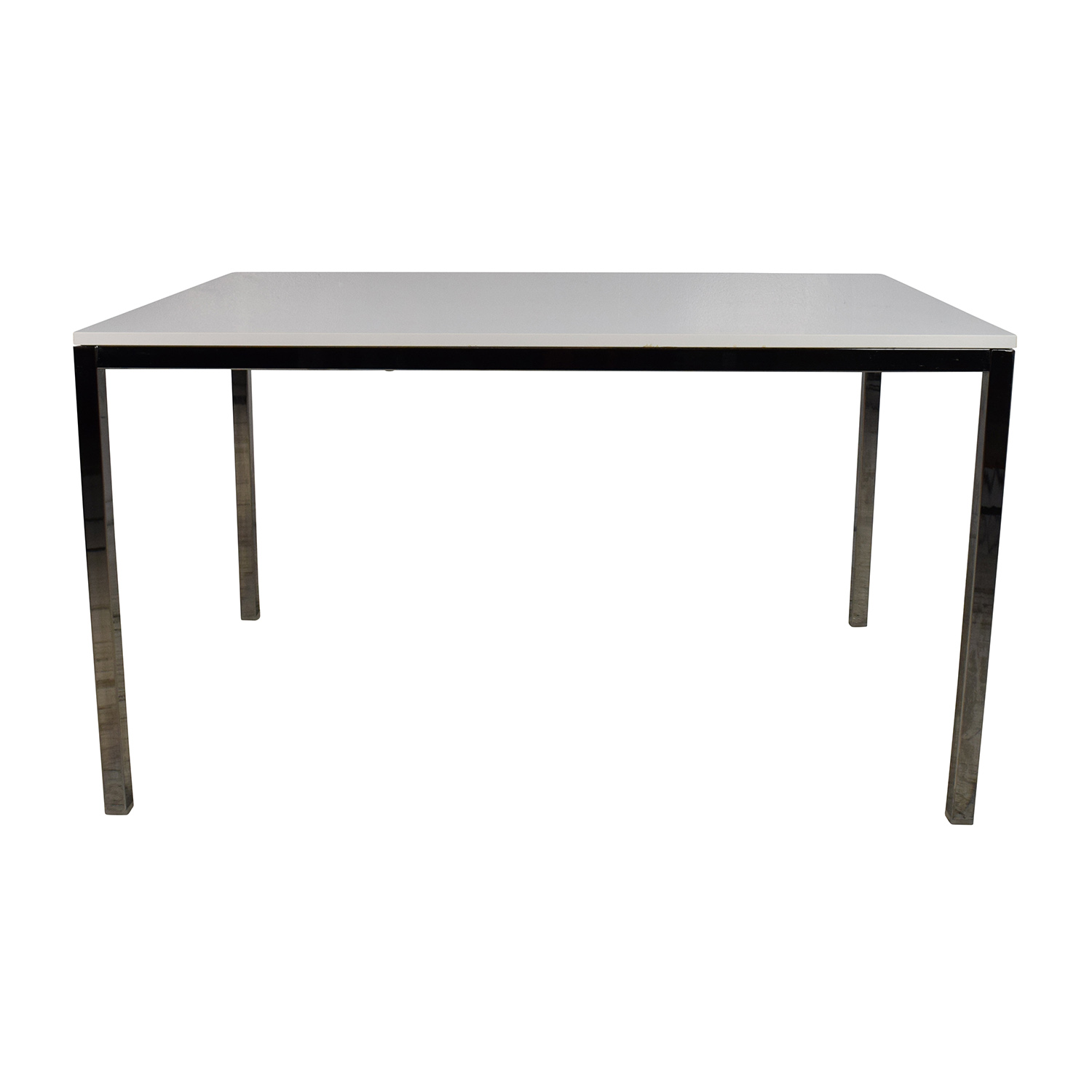 Ikea Dining Table 57 Off Ikea Ikea White Top Dining Table With Silver Chrome Legs Tables