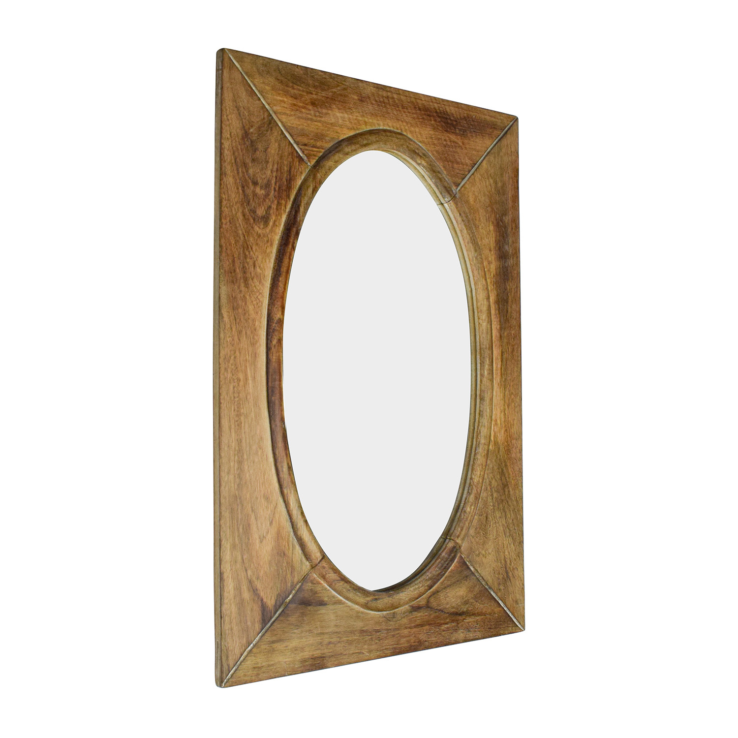 Oval Mirror Wood Frame 64 Off World Market World Market Rustic Wood Shandi Oval Mirror Decor