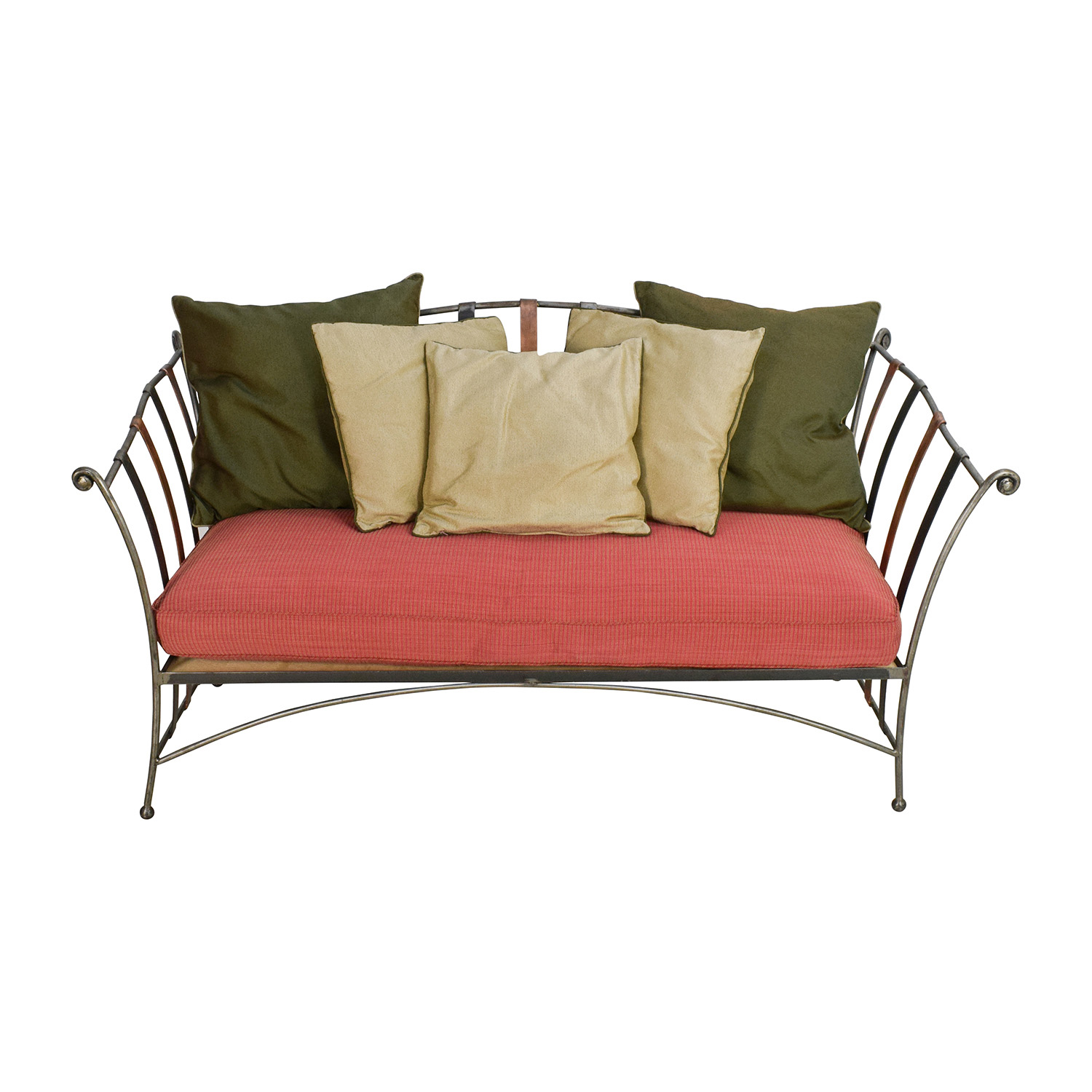 Made Sofa Shop 90 Off Custom Made Wrought Iron Daybed Sofa With Silk Pillows Sofas