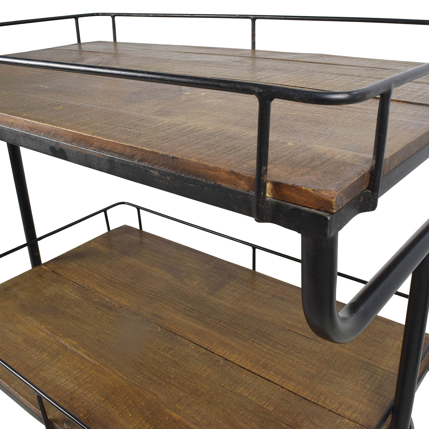 Warehouse Table 80 Off Restoration Hardware Restoration Hardware Warehouse Trolly Bar Cart Tables
