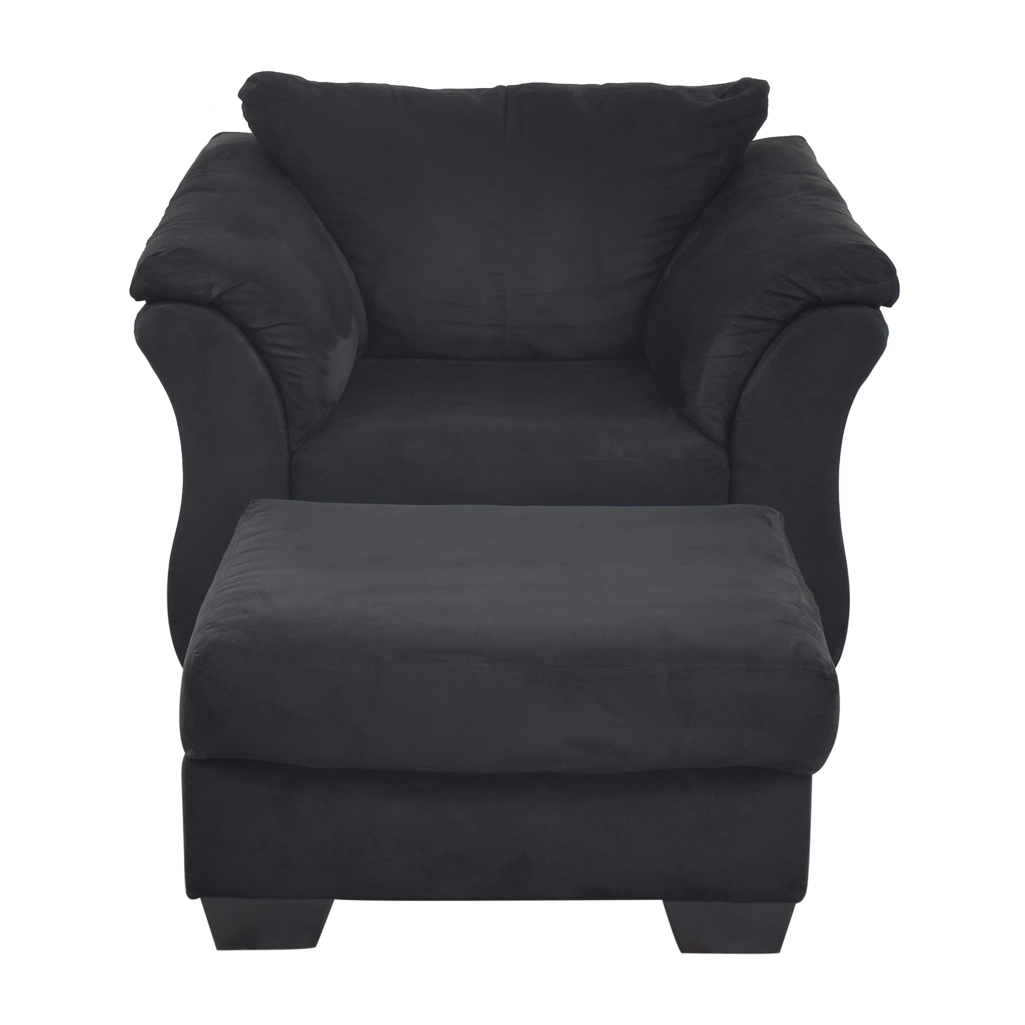 74 Off Ashley Furniture Ashley Furniture Darcy Cobblestone Chair And Ottoman Chairs
