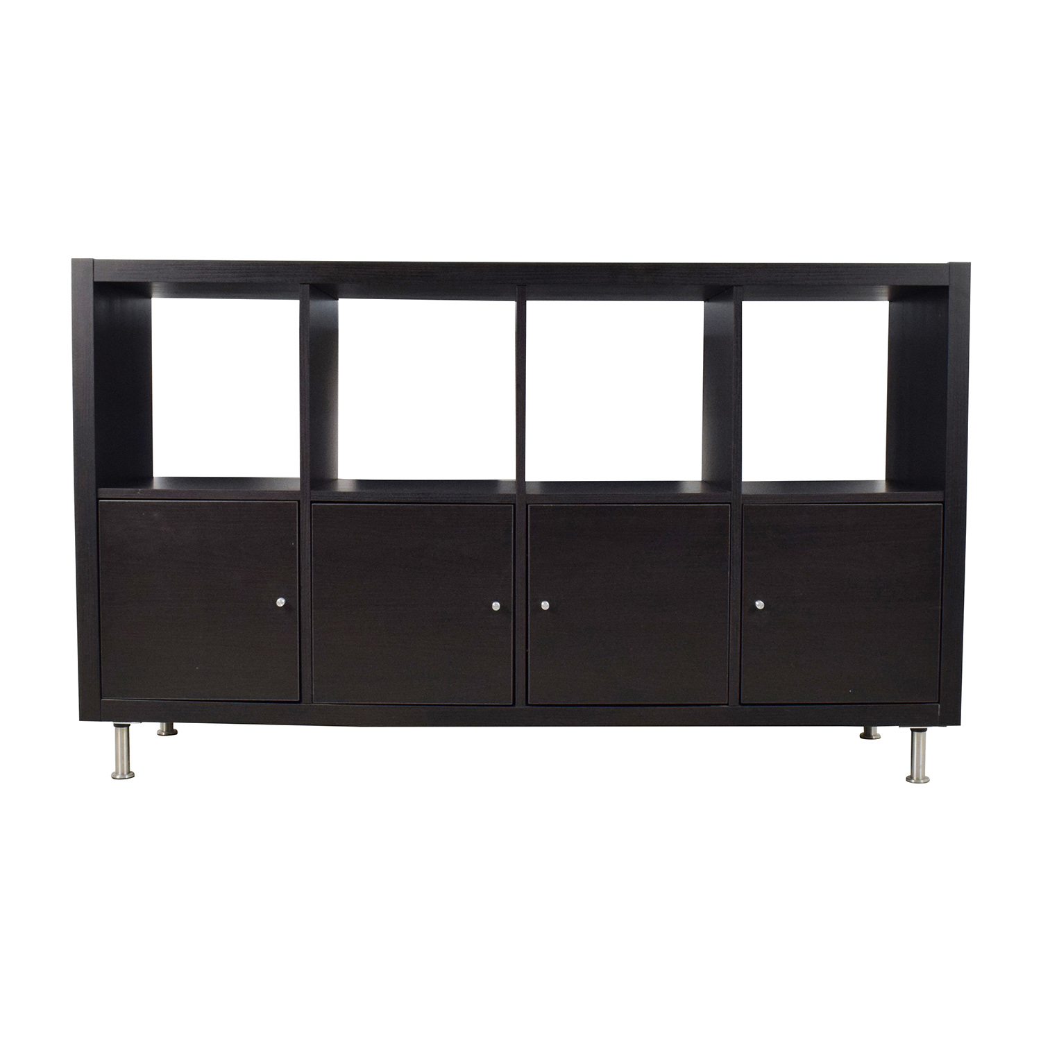 Ikea Kallax 43 Off Ikea Ikea Kallax Black Shelf Unit Storage