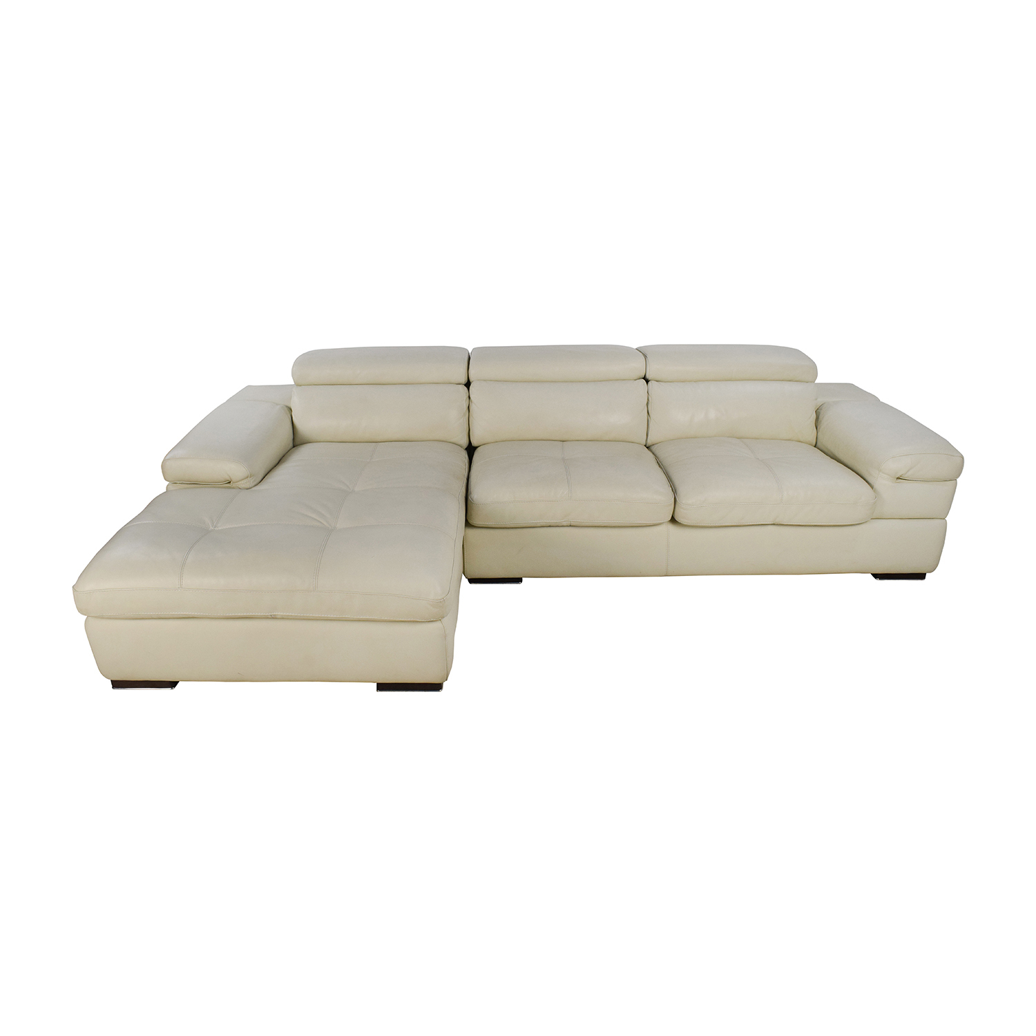 Leather Sectional Sofa Sale 69 Off L Shaped Cream Leather Sectional Sofa Sofas
