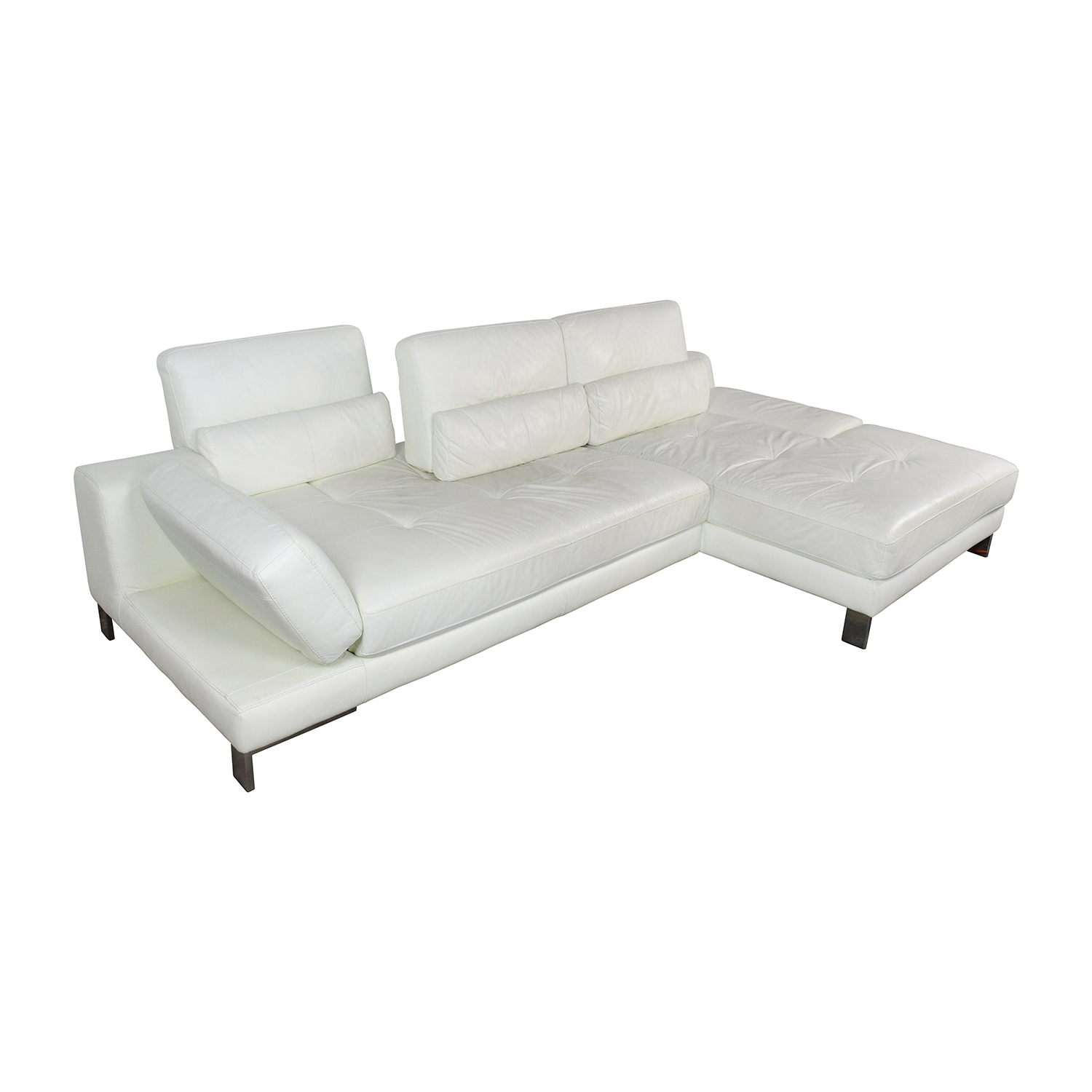 Sofa Funktion 72 Off Mobilia Mobilia Canada Funktion White Leather Sectional Sofas