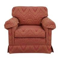 90% OFF - Sherrill Furniture Sherrill Orange and Red ...