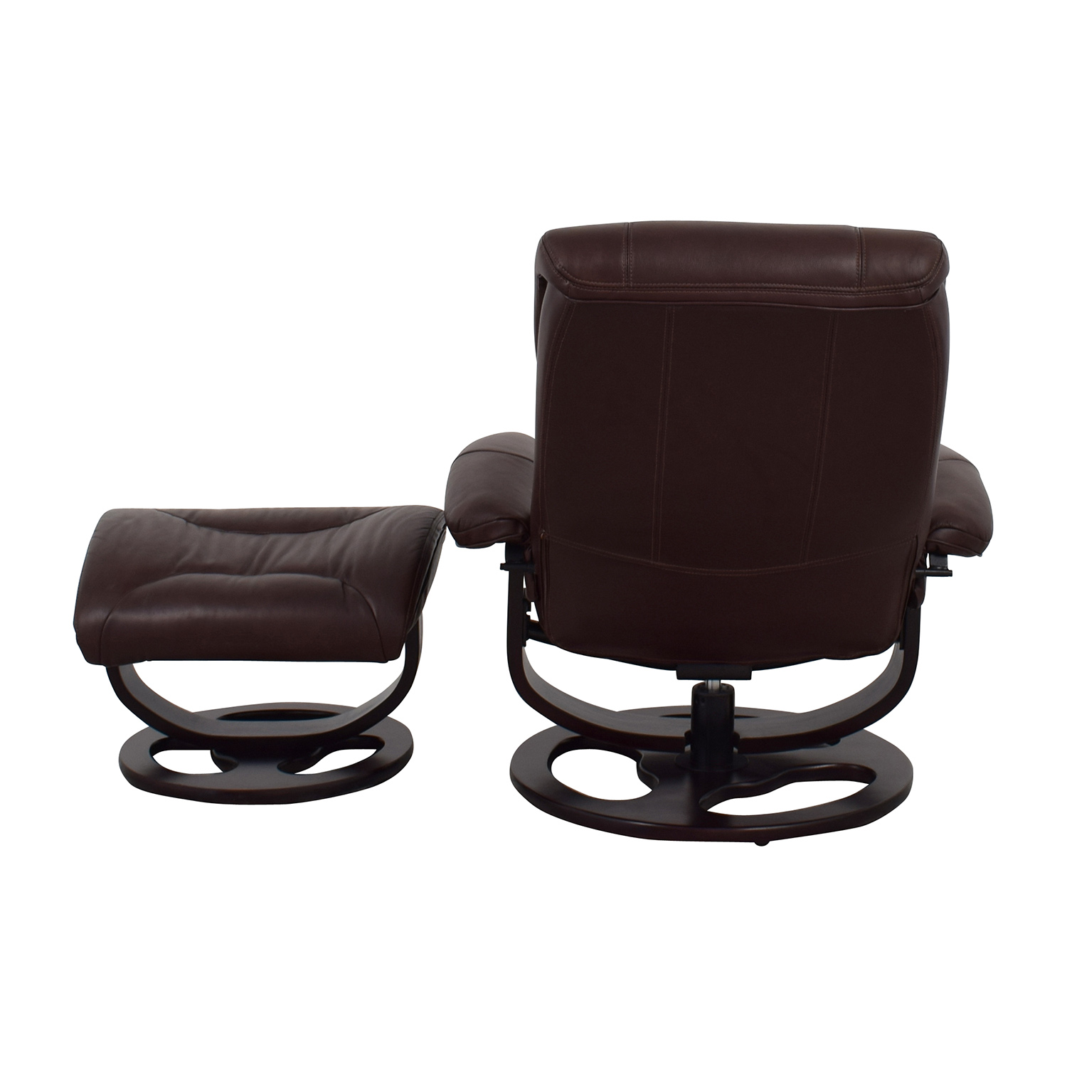 Leather Recliner Chair With Ottoman 59 Off Macy S Macy S Aby Brown Leather Recliner Chair Ottoman