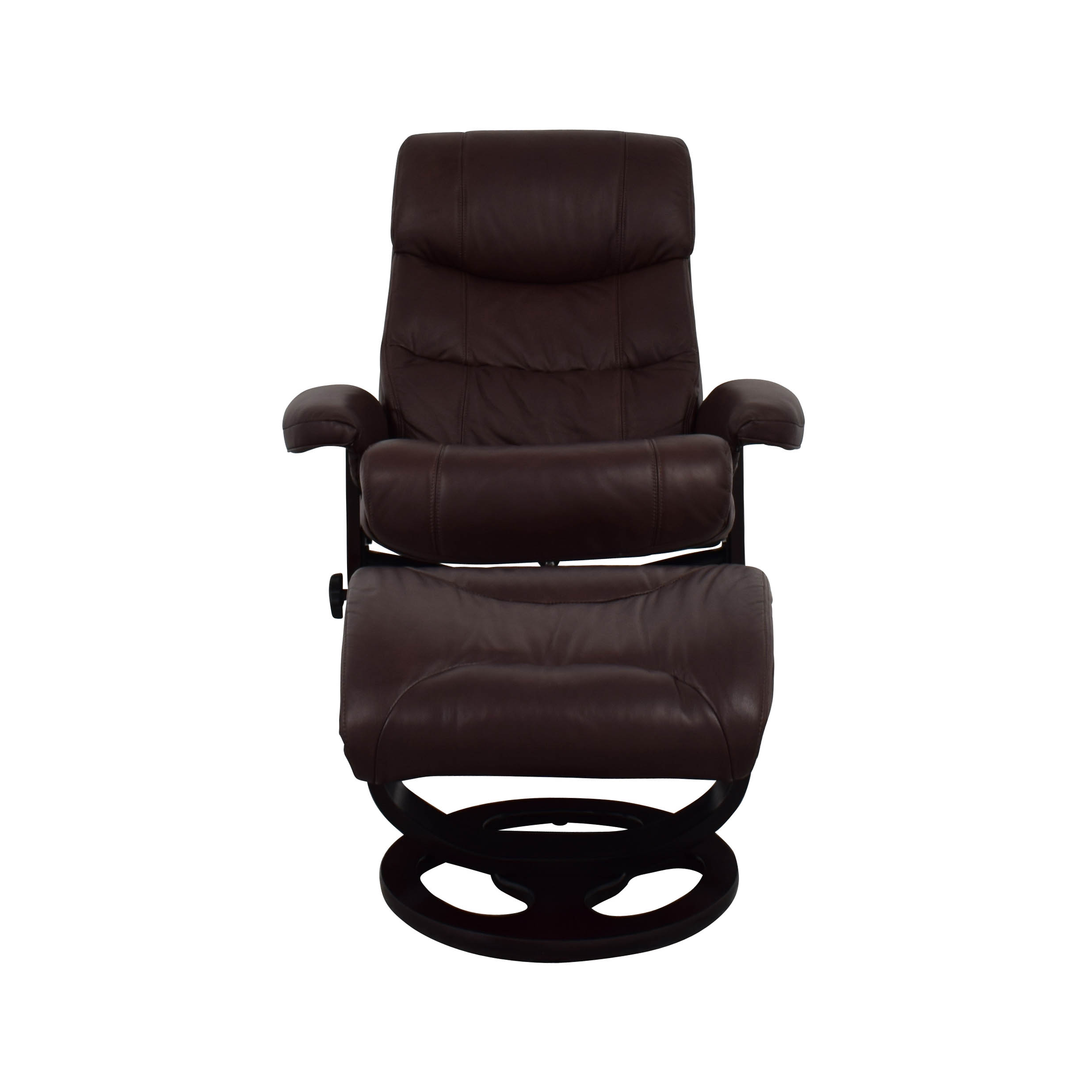Leather Recliner Chair With Ottoman 59 Off Macy S Macy S Aby Brown Leather Recliner Chair Ottoman Chairs