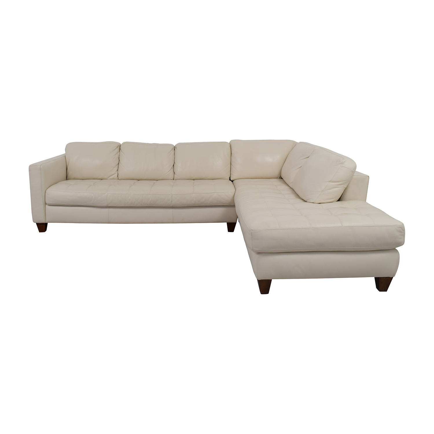 White Leather Couch 72 Off Macy S Macy S Milano White Leather Two Piece Sofa Sofas