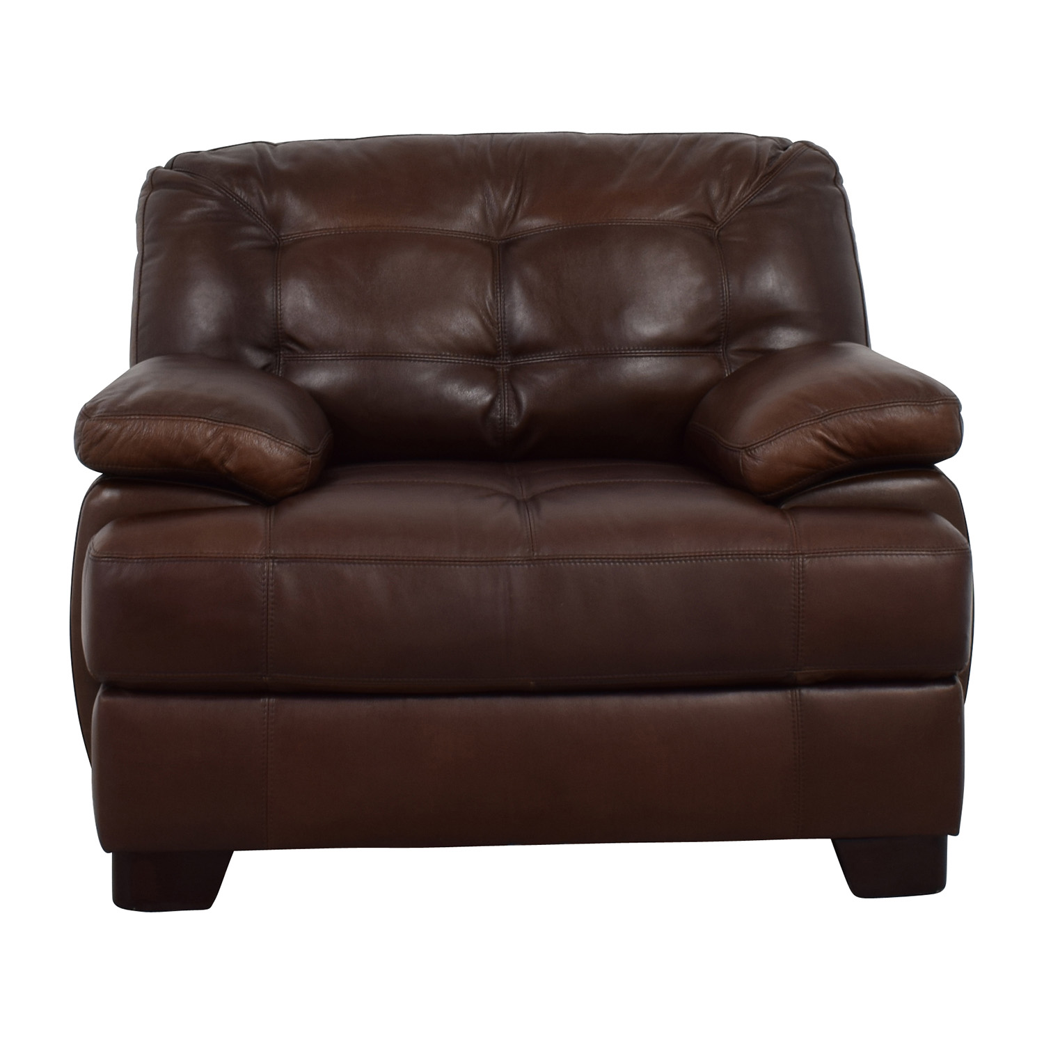Accent Chairs To Go With Brown Leather Sofa 76 Off Simon Li Simmon Li Monarch Dark Brown Leather Chair Chairs