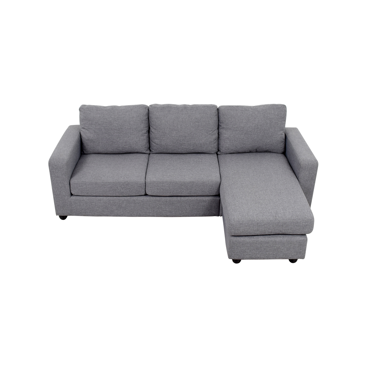 Sofa L Shape Dimensions 35 Off Grey L Shaped Chaise Couch Sofas