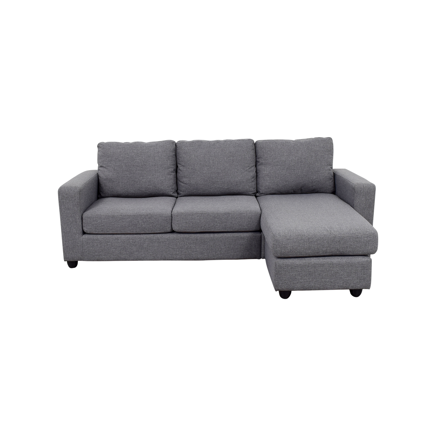 L Sofa 35 Off Grey L Shaped Chaise Couch Sofas