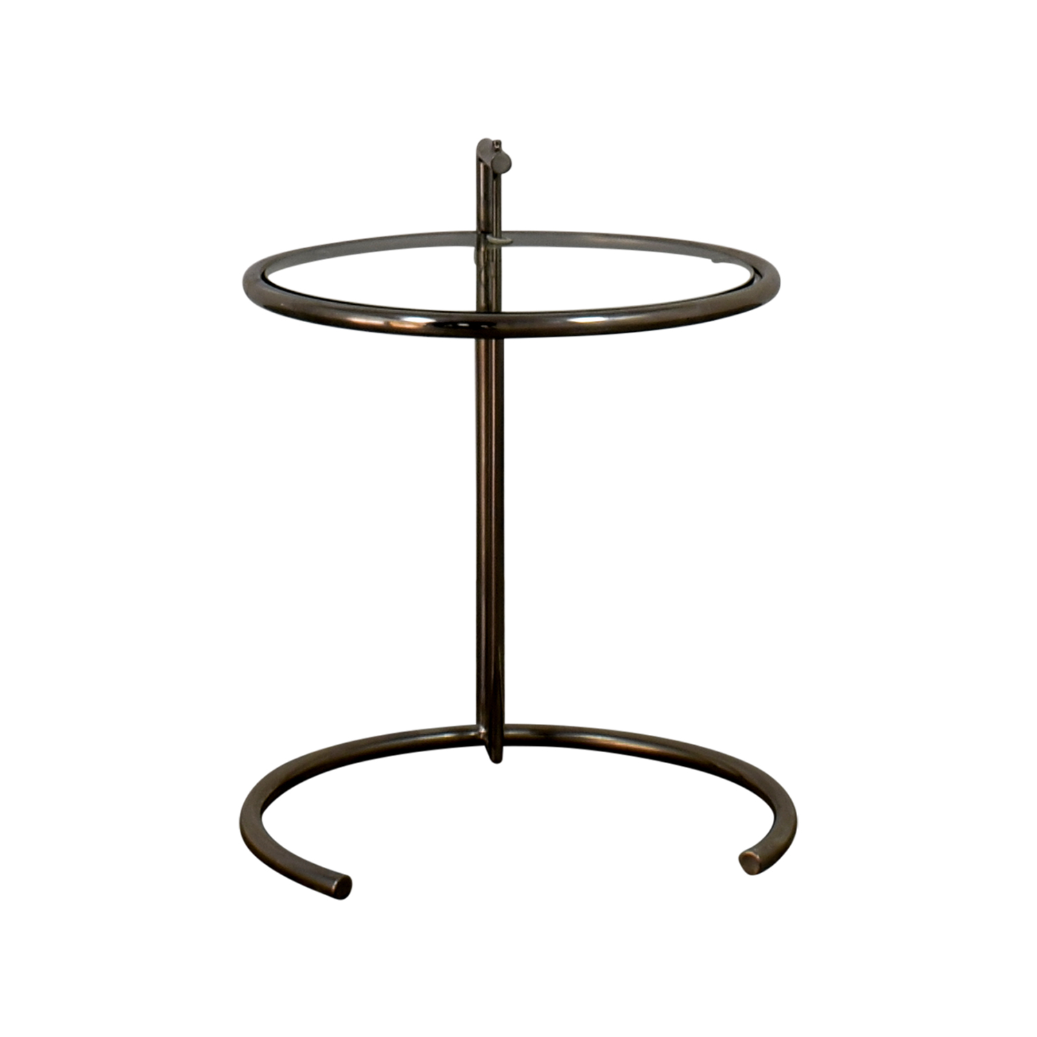 Eileen Gray Table 90 Off Eileen Gray Glass And Chrome Side Table Tables