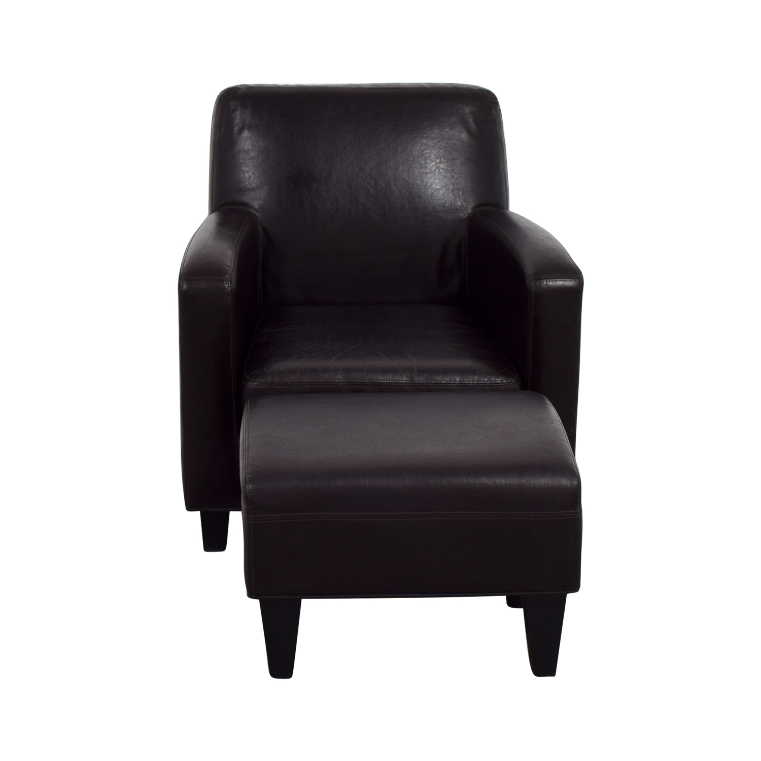 Leather Chairs And Ottomans Sale 52 Off Ikea Ikea Bonded Brown Leather Chair And Ottoman Chairs