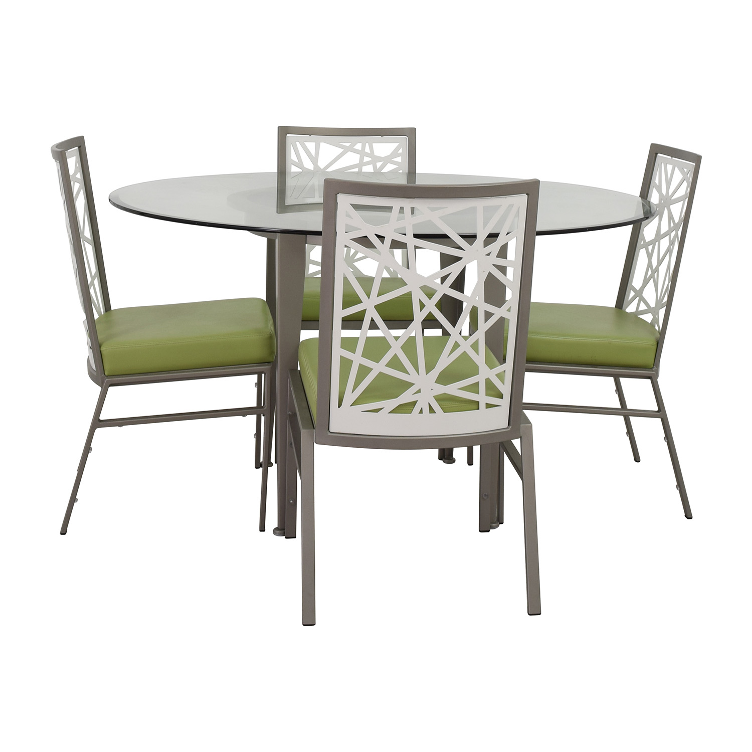 Modern Dining Set 90 Off Bif Furniture Bif Furniture Silver And Green Modern Dining Set Tables
