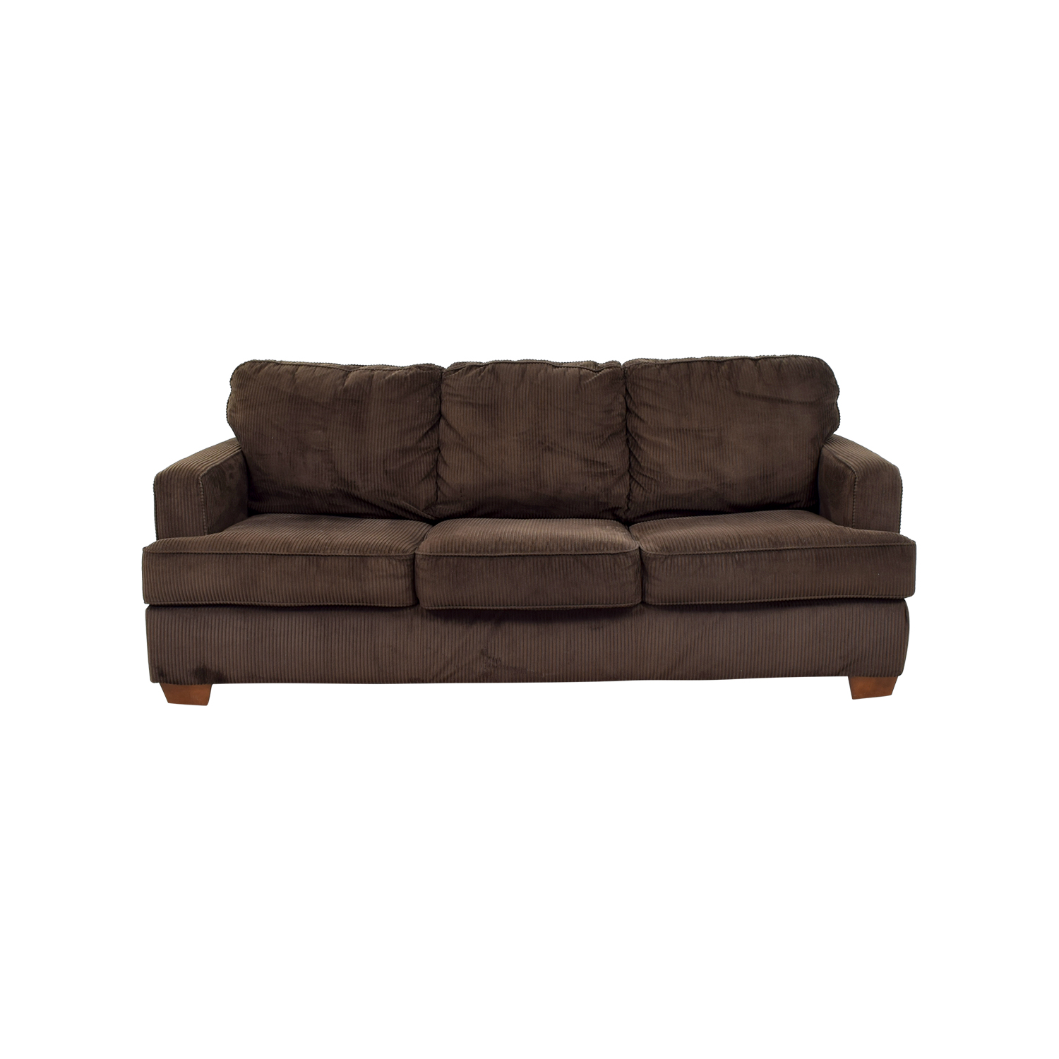 Chocolate Corduroy Sofa 89 Off Atmore Chocolate Corduroy Three Cushion Sofa Sofas