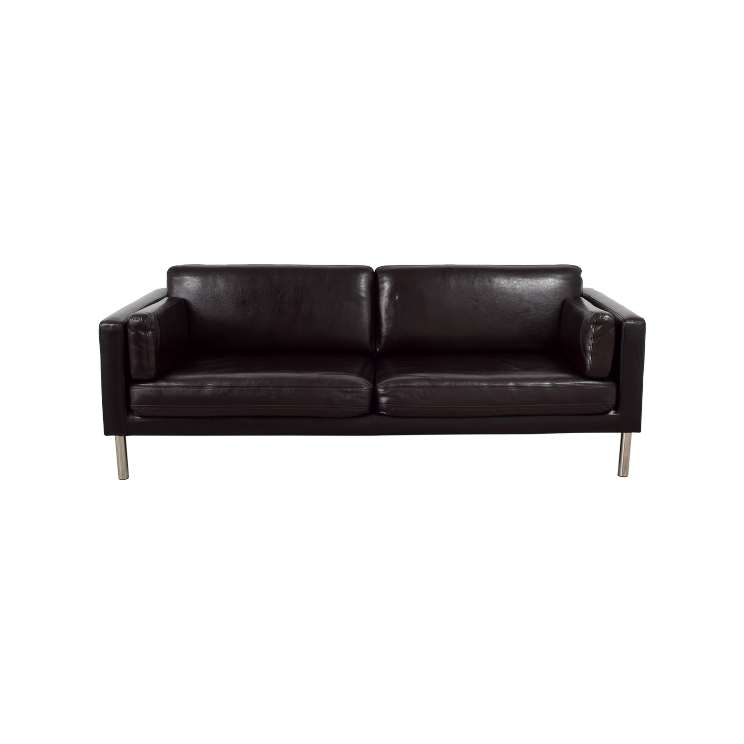 Ledersofa Ikea Säter 41 Off Ikea Ieka Sater Brown Leather Couch Sofas
