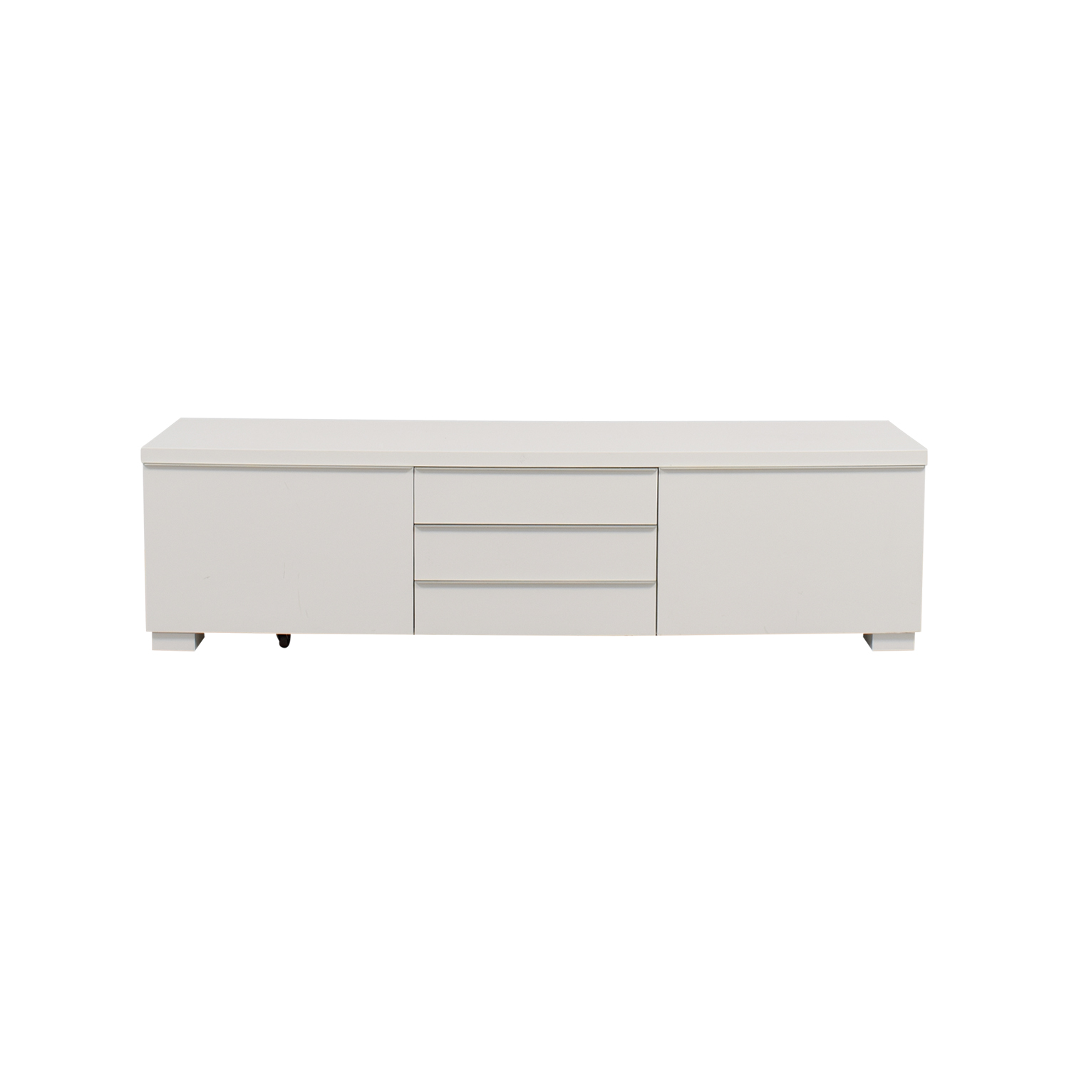 Ikea Tv Sideboard 37 Off Ikea Ikea White Tv Stand With Five Drawers Storage