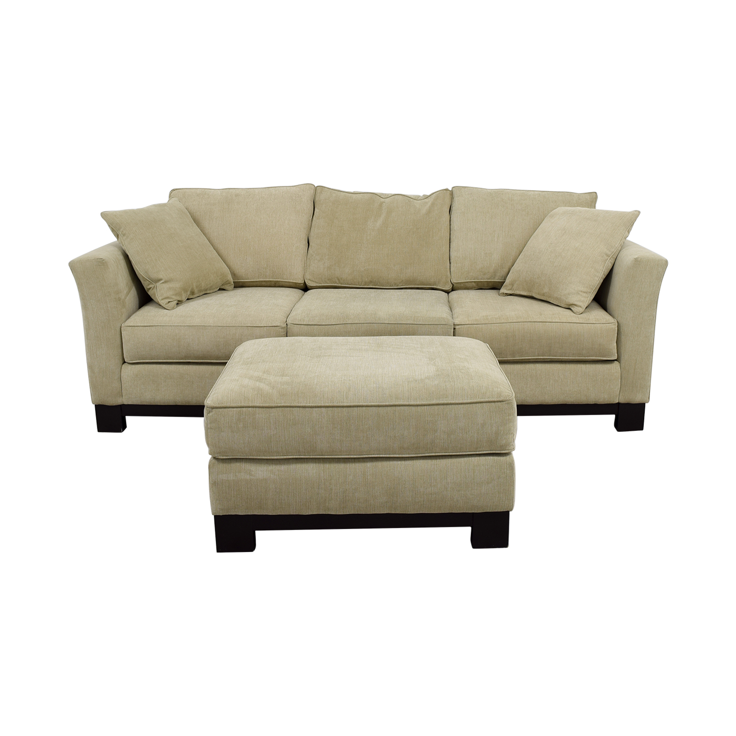 Sofa 60er 60 Off Macy S Macy S Grey Fabric Couch And Large Ottoman Sofas