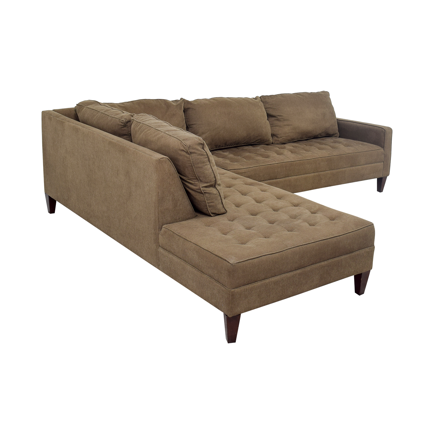 Chaise Z 74 Off Z Gallerie Z Gallery Brown Tufted Chaise L Shaped Sectional Sofas