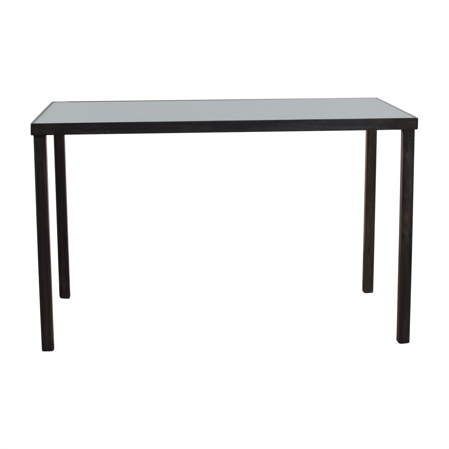 White Office Desk 75 Off West Elm West Elm Glass Top And Steel Base Office Desk Tables