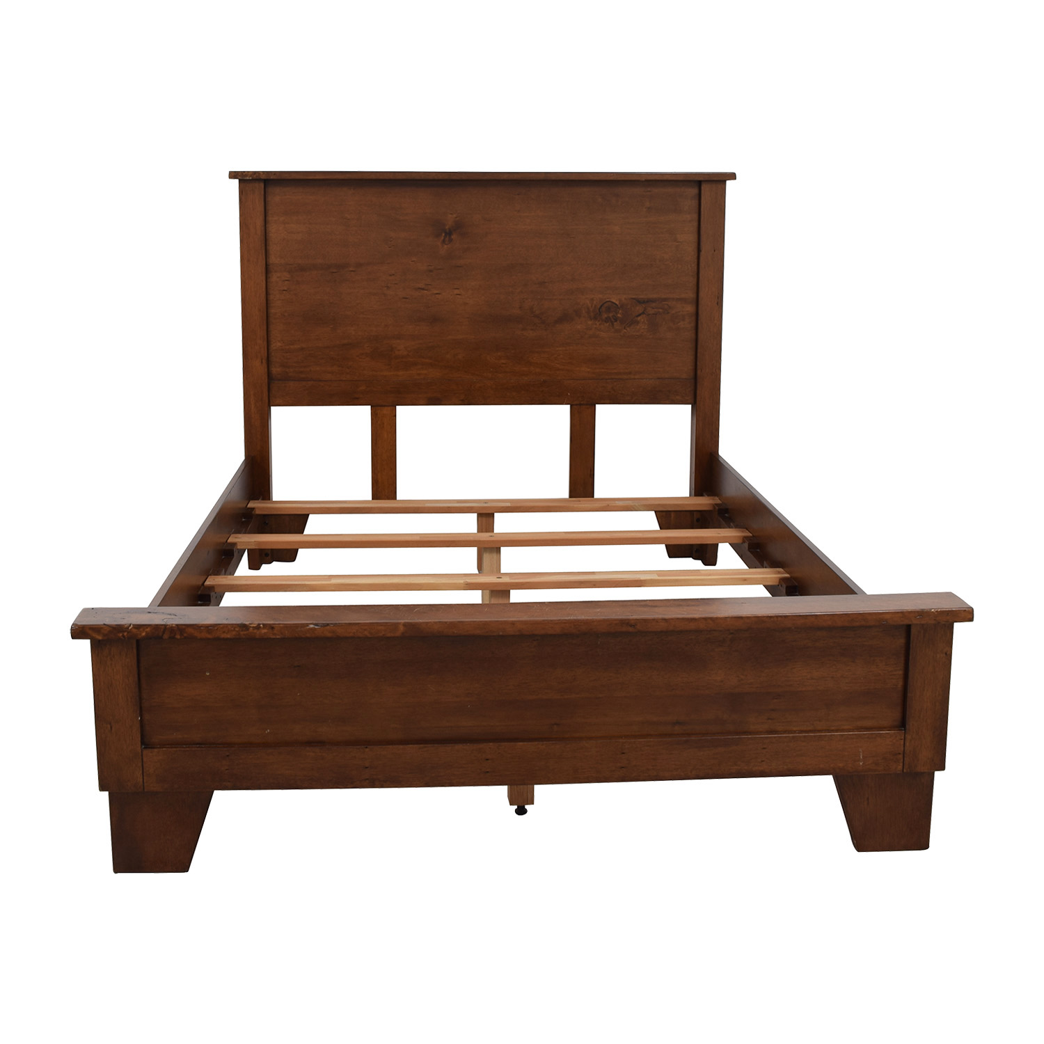 Buy A Bed 90 Off Pottery Barn Pottery Barn Sumatra Wood Full Bed Frame Beds