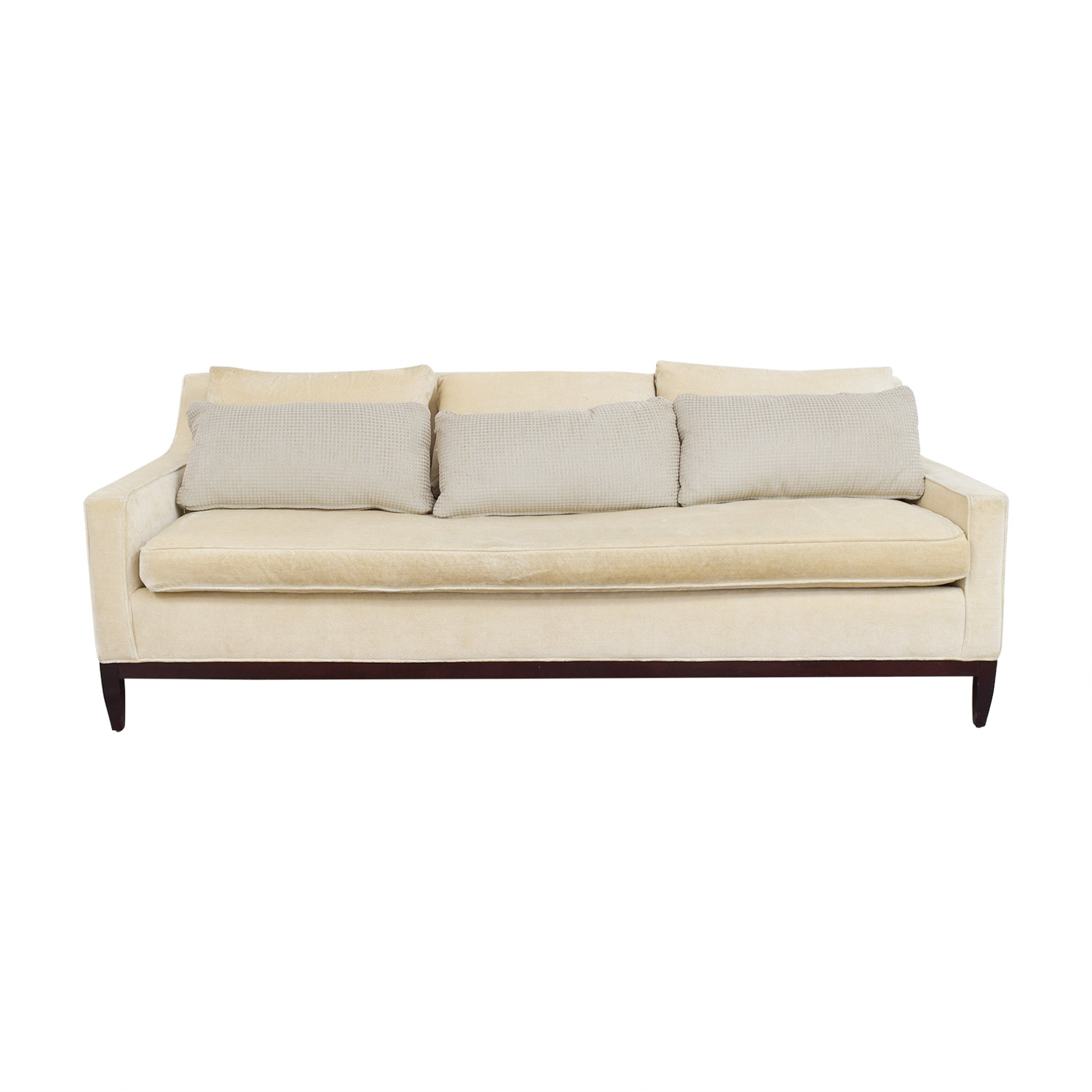 Sofa For Sale Online 63 Off Custom Single Cushion Beige Couch Sofas