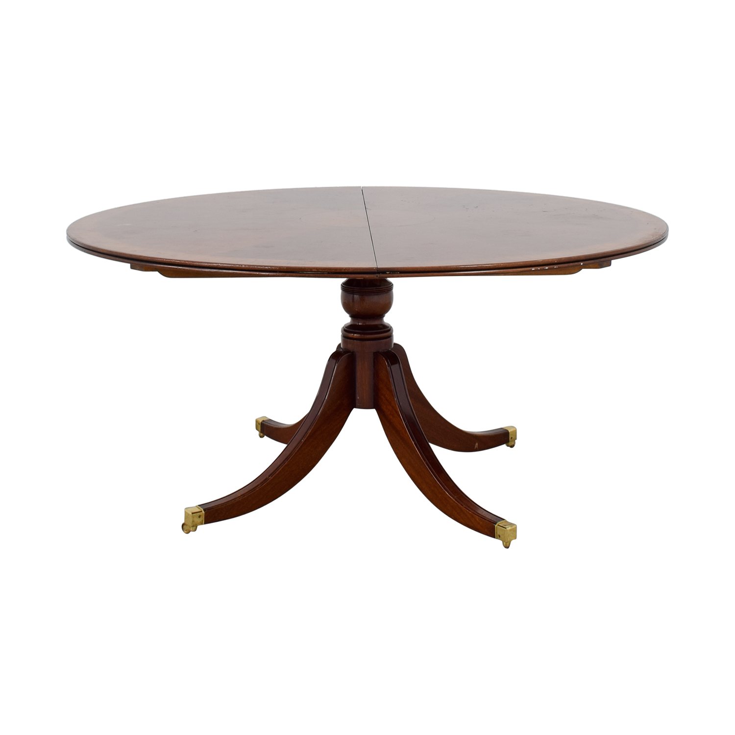 Round Dining Table With Extensions 90 Off Scully Scully Scully Scully Mahogany Round Dining