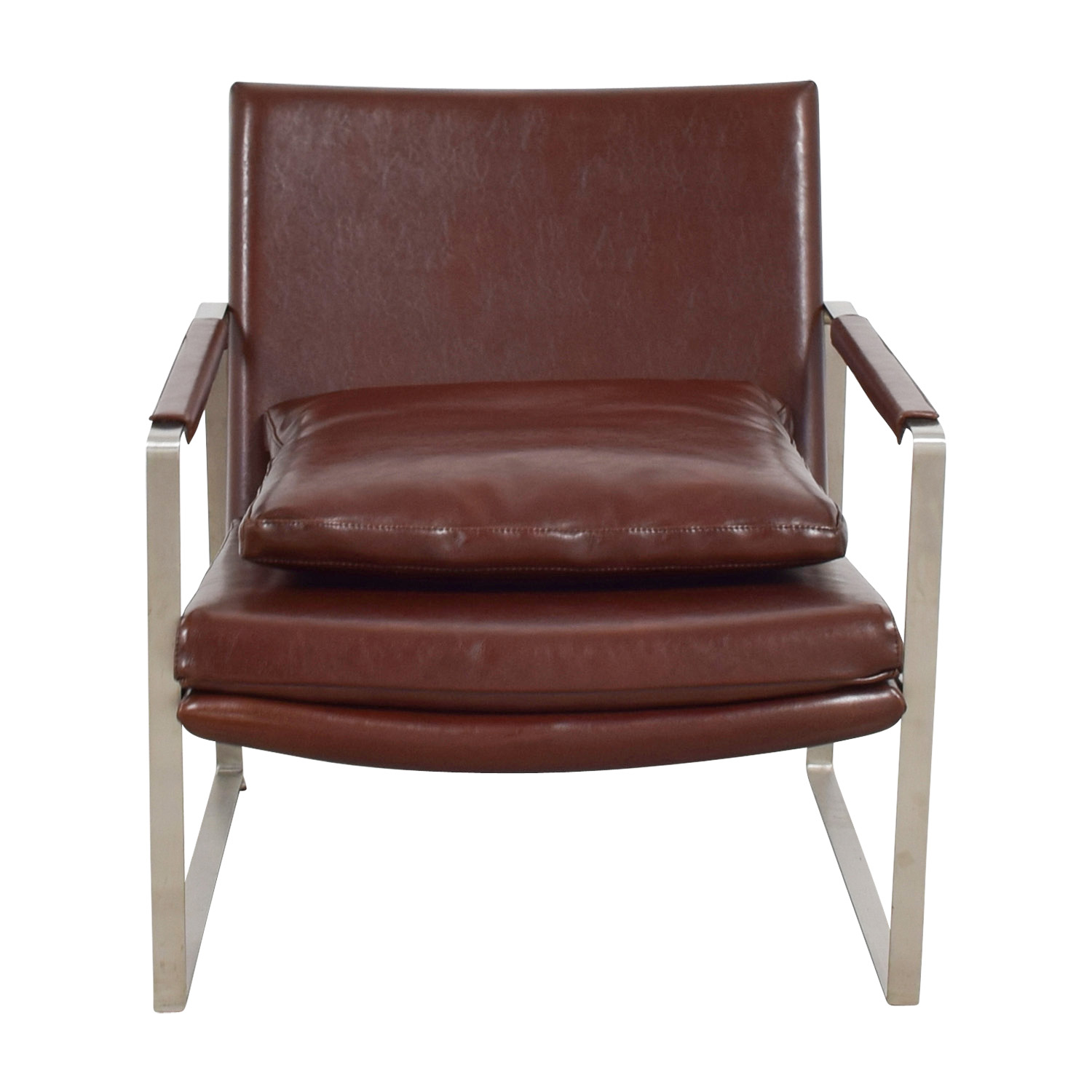 Chair Price 80 Off Sohoconcept Soho Concept Zara Brown And Chrome Accent Chair Chairs