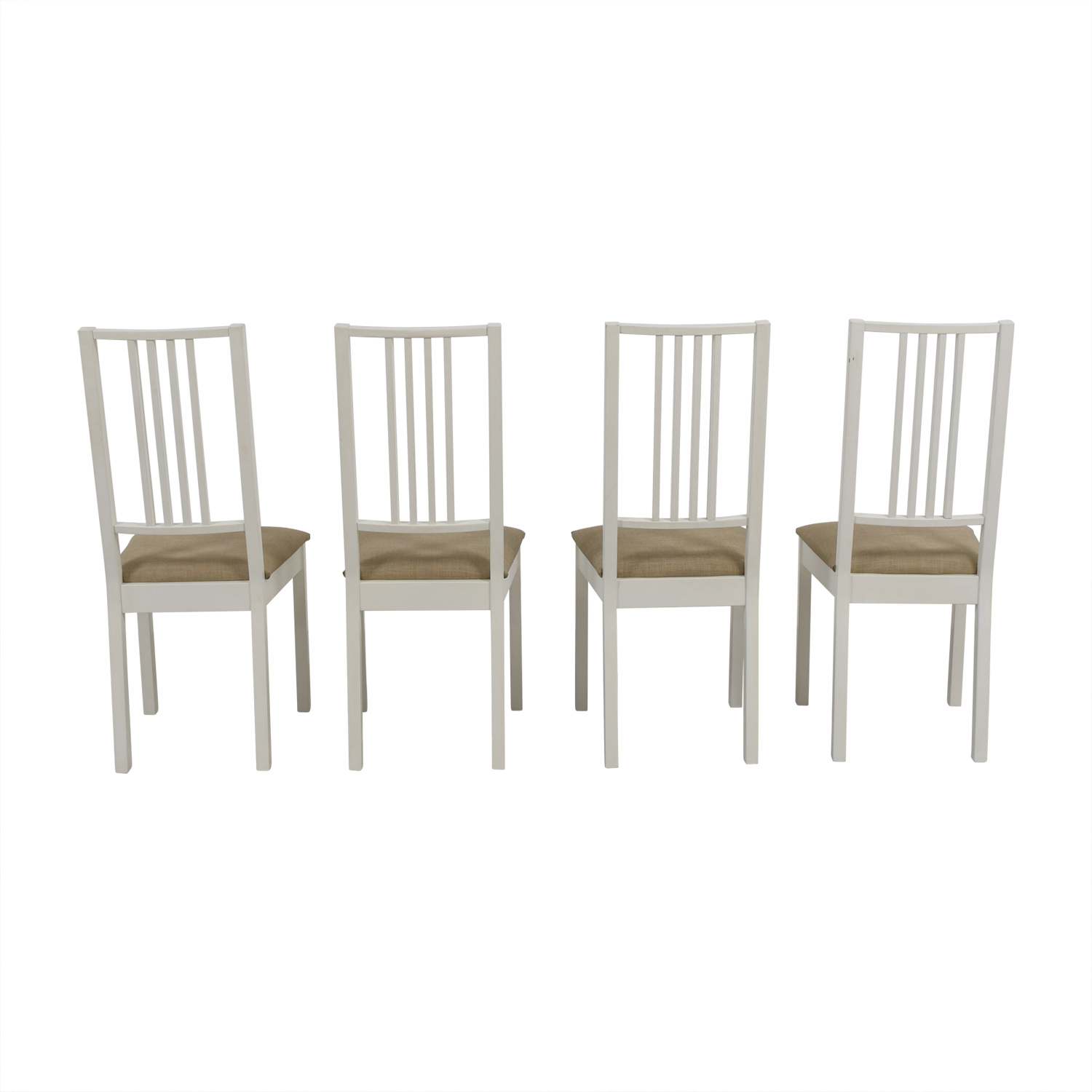 Dining Chairs Ikea 82 Off Ikea Ikea White With Tan Upholstered Dining Chairs Chairs