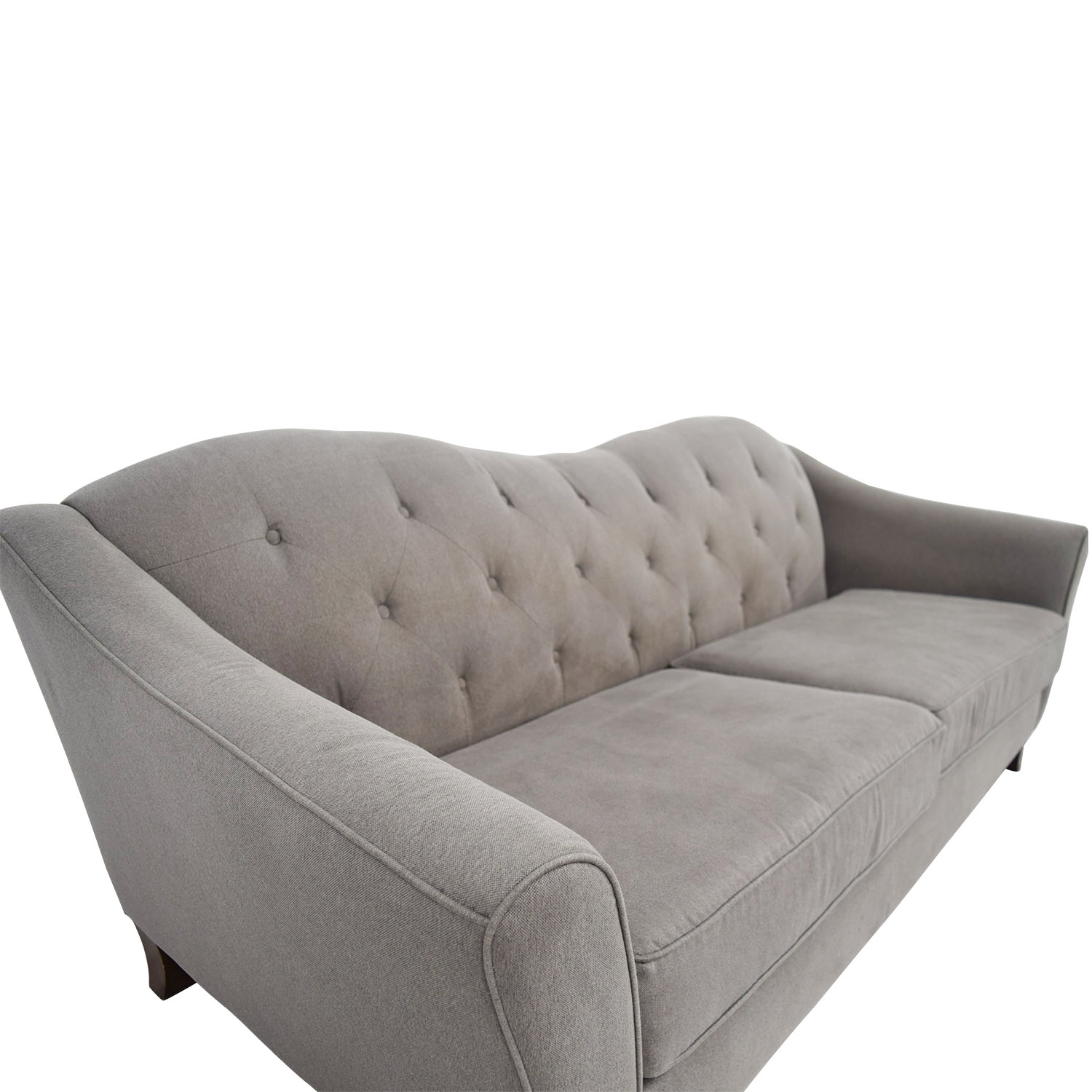Curved Sofa 85 Off Macy S Macy S Brindle Grey Tufted Curved Sofa Sofas