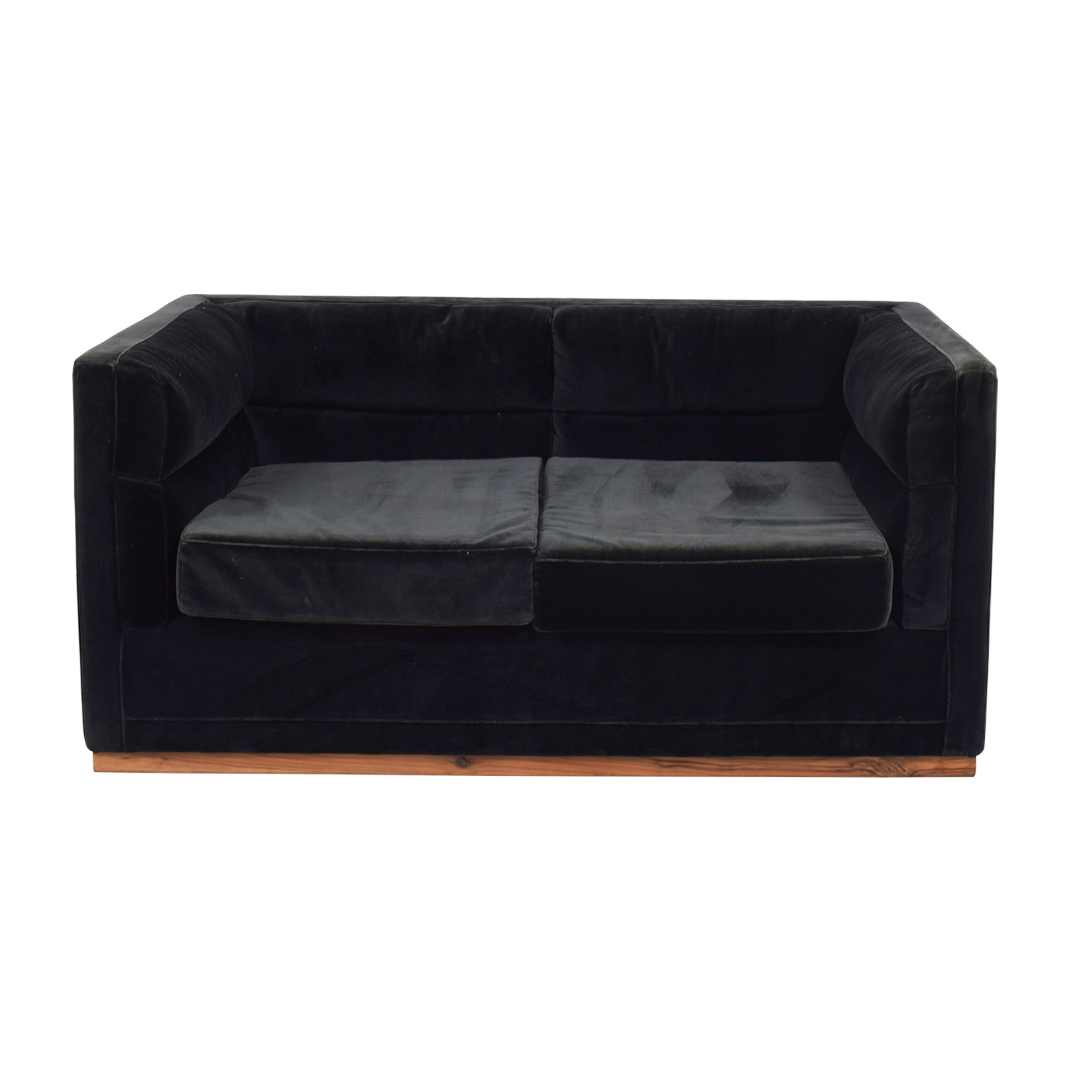 Sofa Berlin 83 Off Organic Modernism Organic Modernism Berlin Dark Green Two Cushion Sofa Sofas
