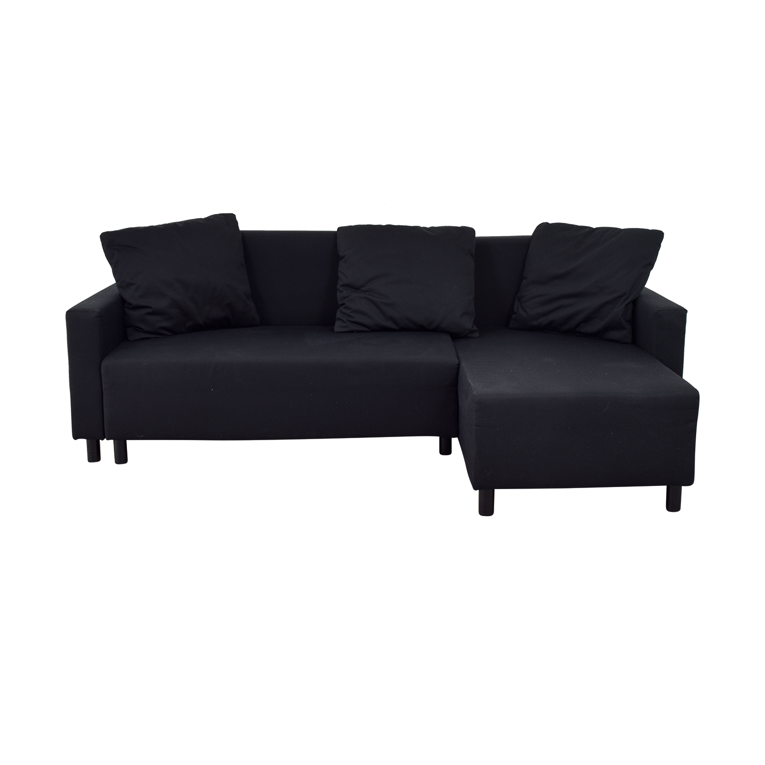 Couch Ikea 31 Off Ikea Ikea Black Sleeper Chaise Sectional With Storage