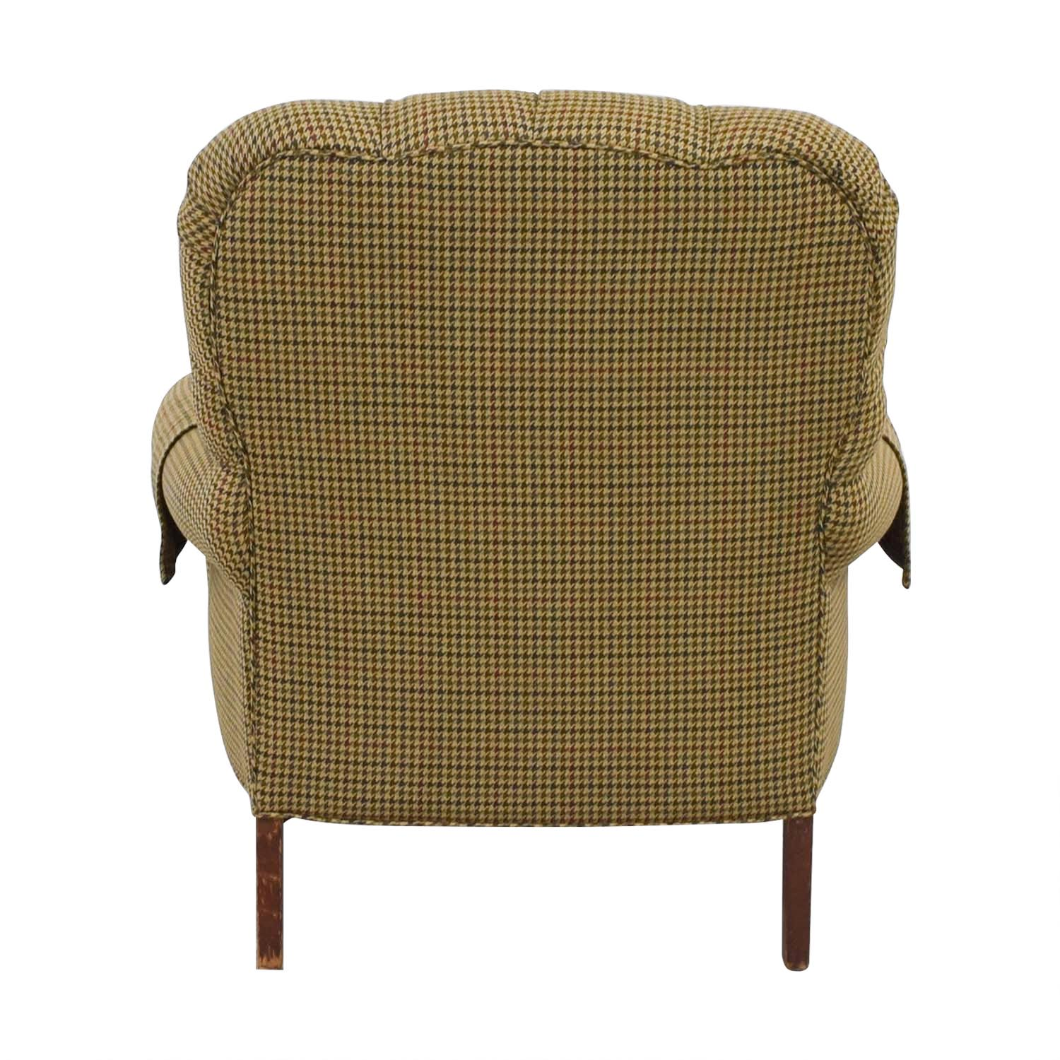 Designer Chairs Used 90 Off Designer Houndstooth Tufted Accent Chair Chairs
