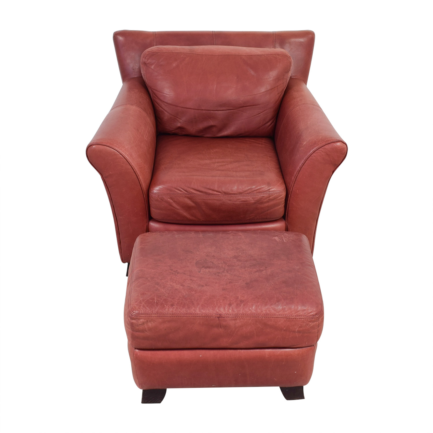 Leather Chairs And Ottomans Sale 73 Off Palliser Palliser Red Leather Chair And Ottoman Chairs