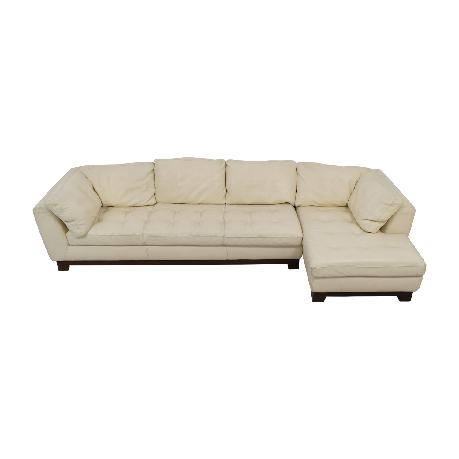 Roche Bobois Chaises 89 Off Roche Bobois Roche Bobois Cream Leather Chaise Sectional Sofas