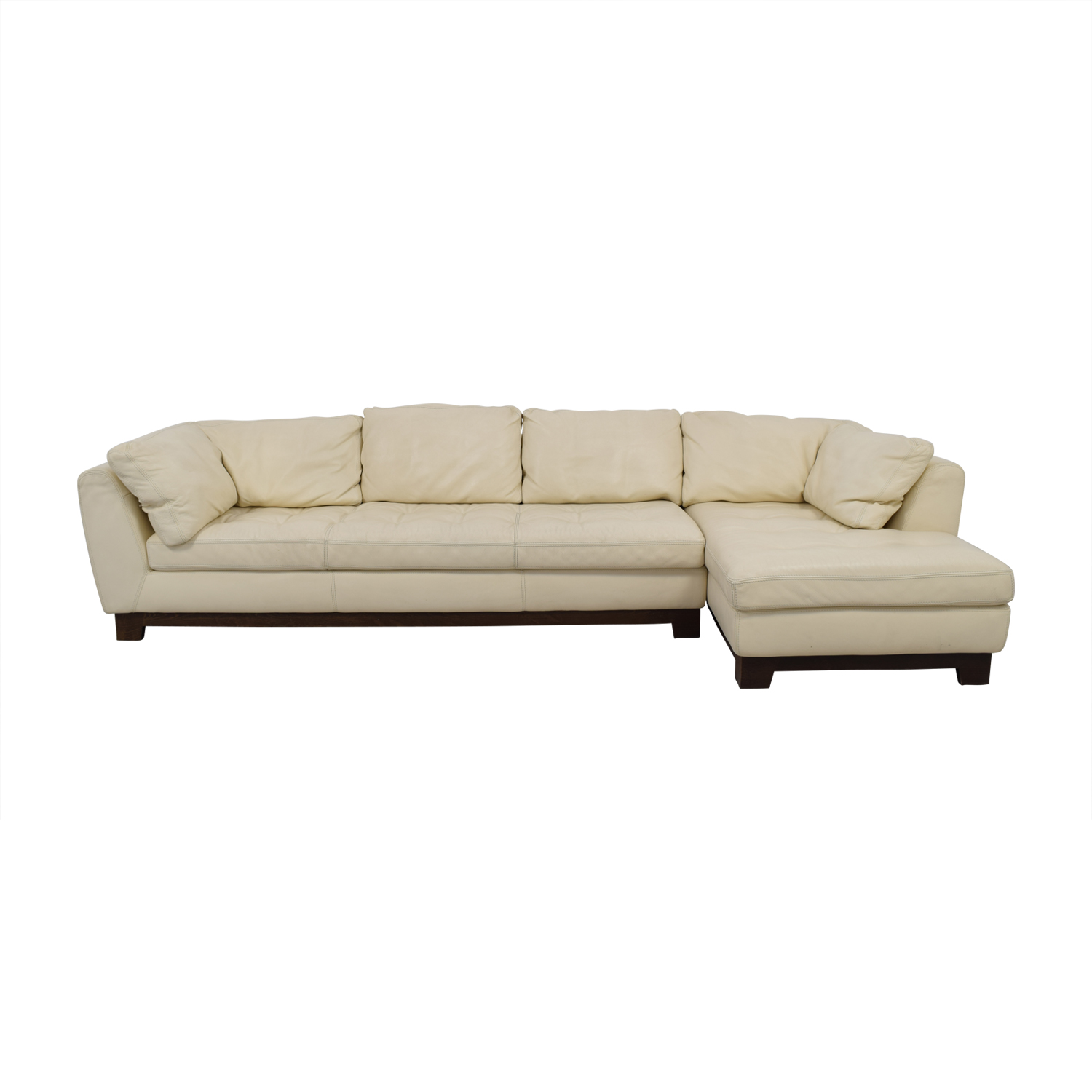 Roche Bobois Chaises 89 Off Roche Bobois Roche Bobois Cream Leather Chaise Sectional