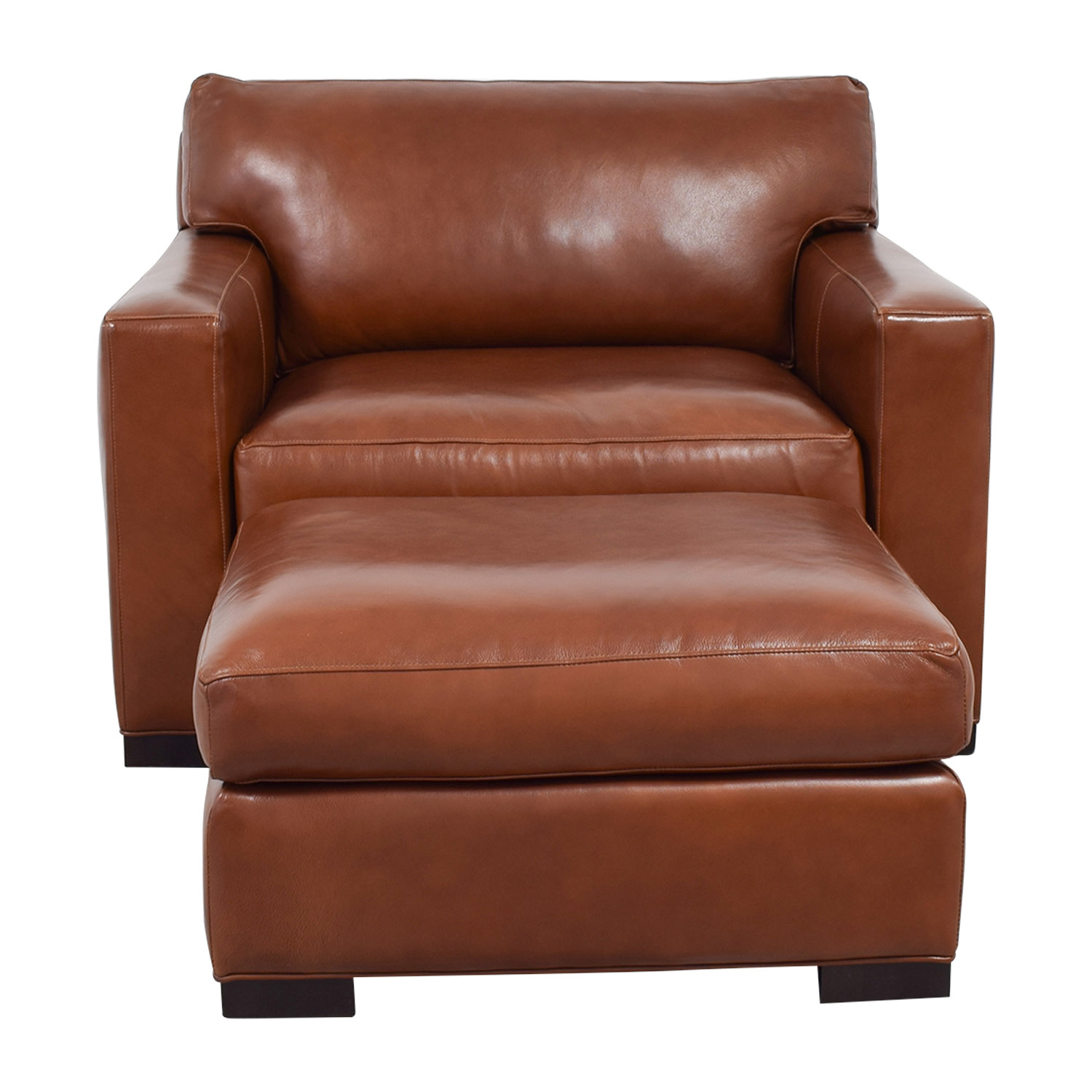 Leather Chairs And Ottomans Sale 80 Off Crate Barrel Crate Barrel Axis Ii Brown Leather Chair And Ottoman Sofas