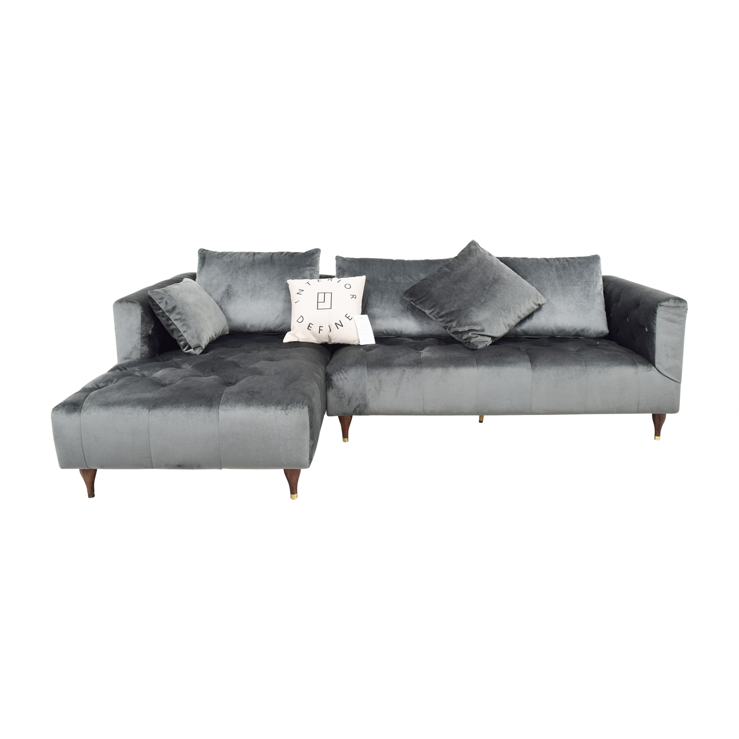 Chesterfield Sectional Sofa 65 Off Ms Chesterfield Narwhal Left Chaise Sectional Sofas