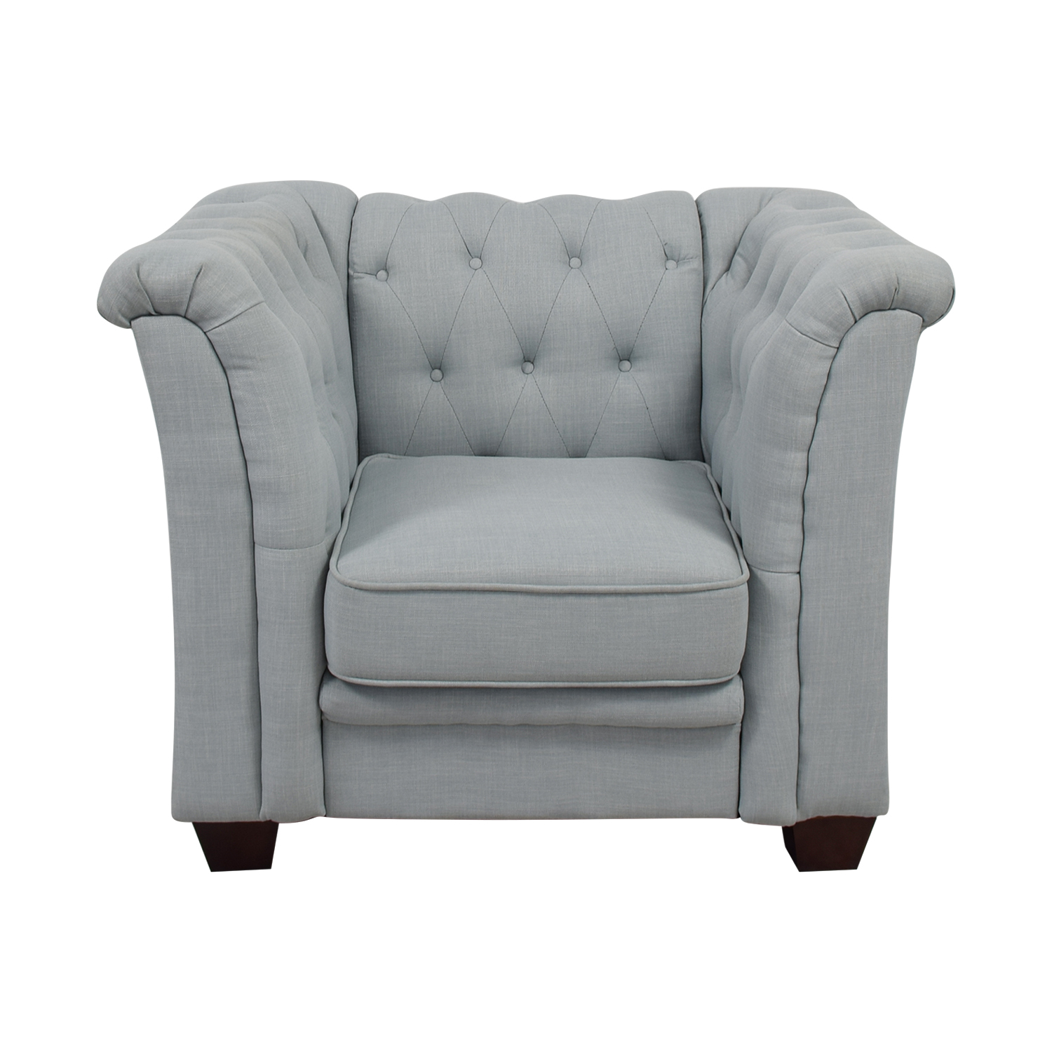 82 Off Delvi Furniture Sky Blue Tufted Accent Chair Chairs  sc 1 th 225 & Blue Tufted Accent Chair | Best Choice Products Modern Tufted ...