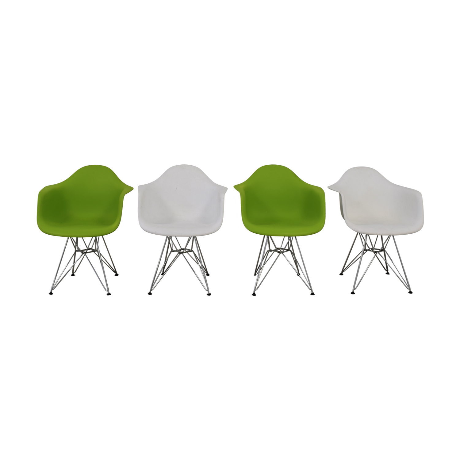 Eames Eiffel 56 Off Replica Eames Eiffel Style Green And White Chairs Chairs