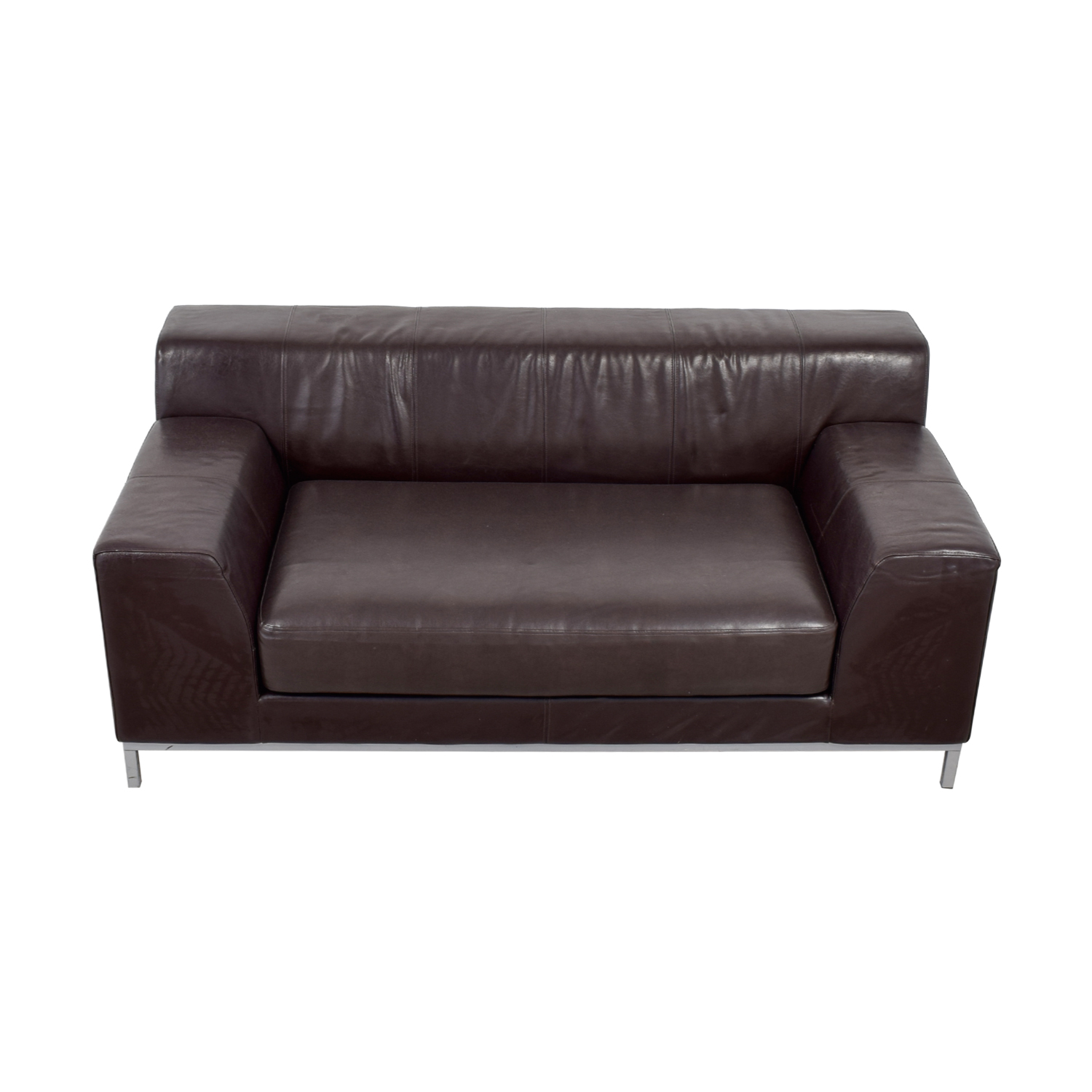 Ledersofa Ikea Kramfors 90 Off Ikea Ikea Kramfors Brown Leather Love Seat Sofas
