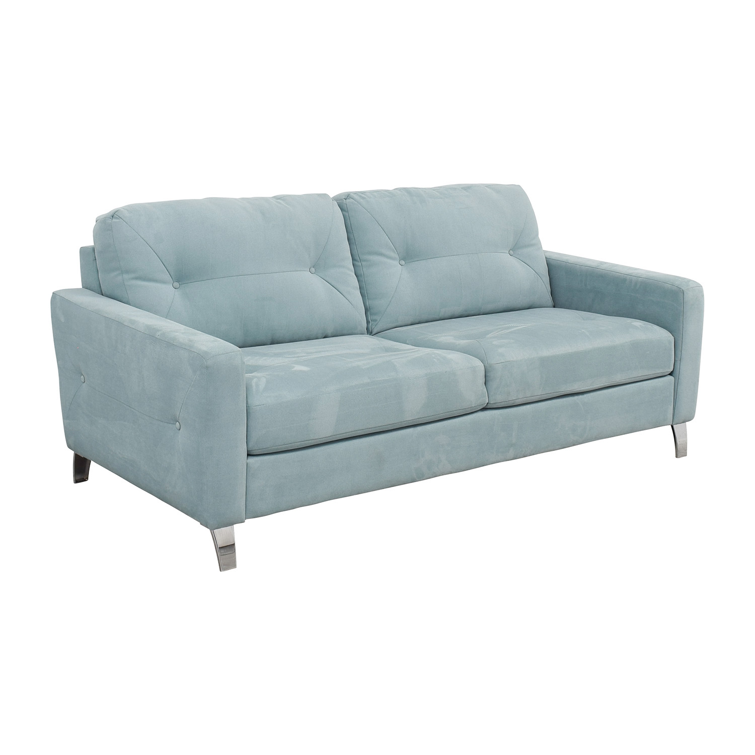 Jensen Sofa Bed Next 62 Off Jensen Lewis Jensen Lewis Sky Blue Semi Tufted Two Cushion Sofa Sofas