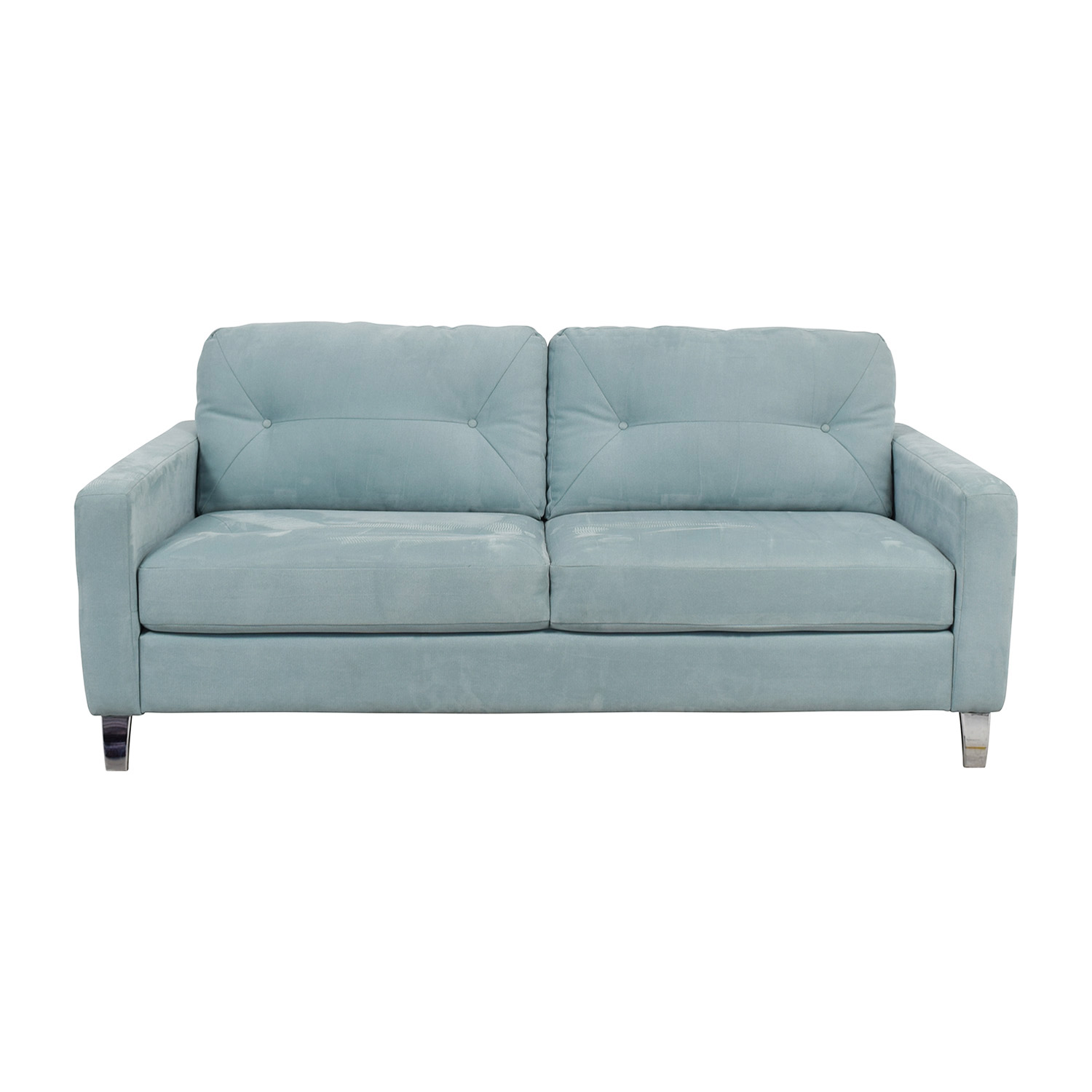 Jensen Sofa Bed Next 62 Off Jensen Lewis Jensen Lewis Sky Blue Semi Tufted Two