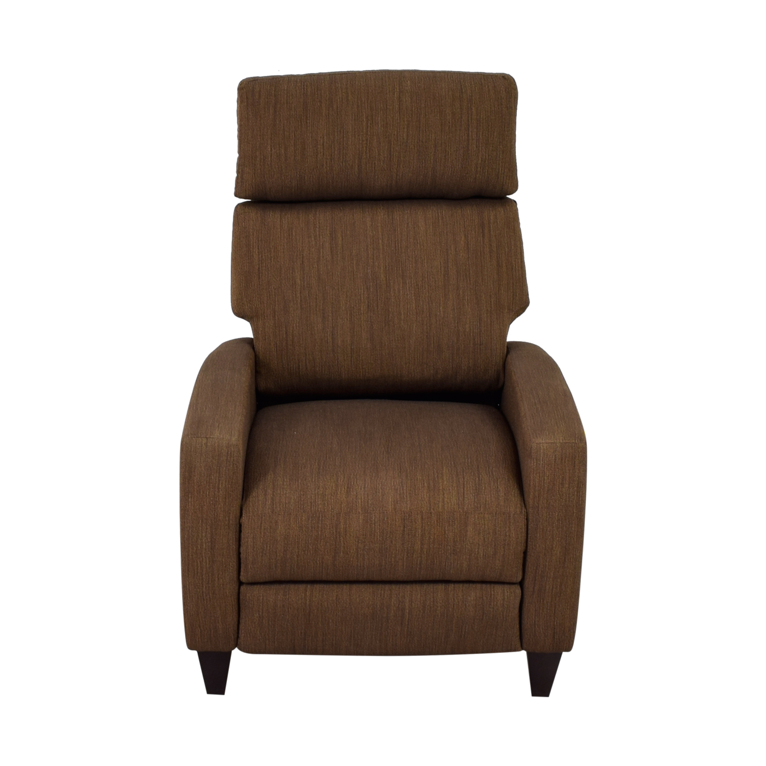 Electric Recliner Leather Chairs 78 Off American Leather American Leather Brown Tweed Electric Recliner Chair Chairs