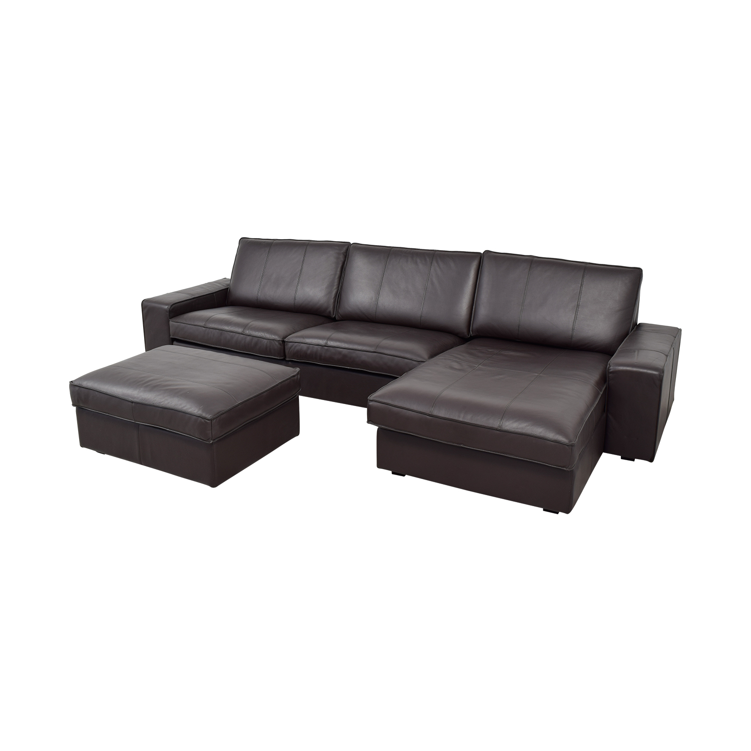 Kivik Sectional 81 Off Ikea Ikea Kivik Chaise Sectional With Ottoman Sofas